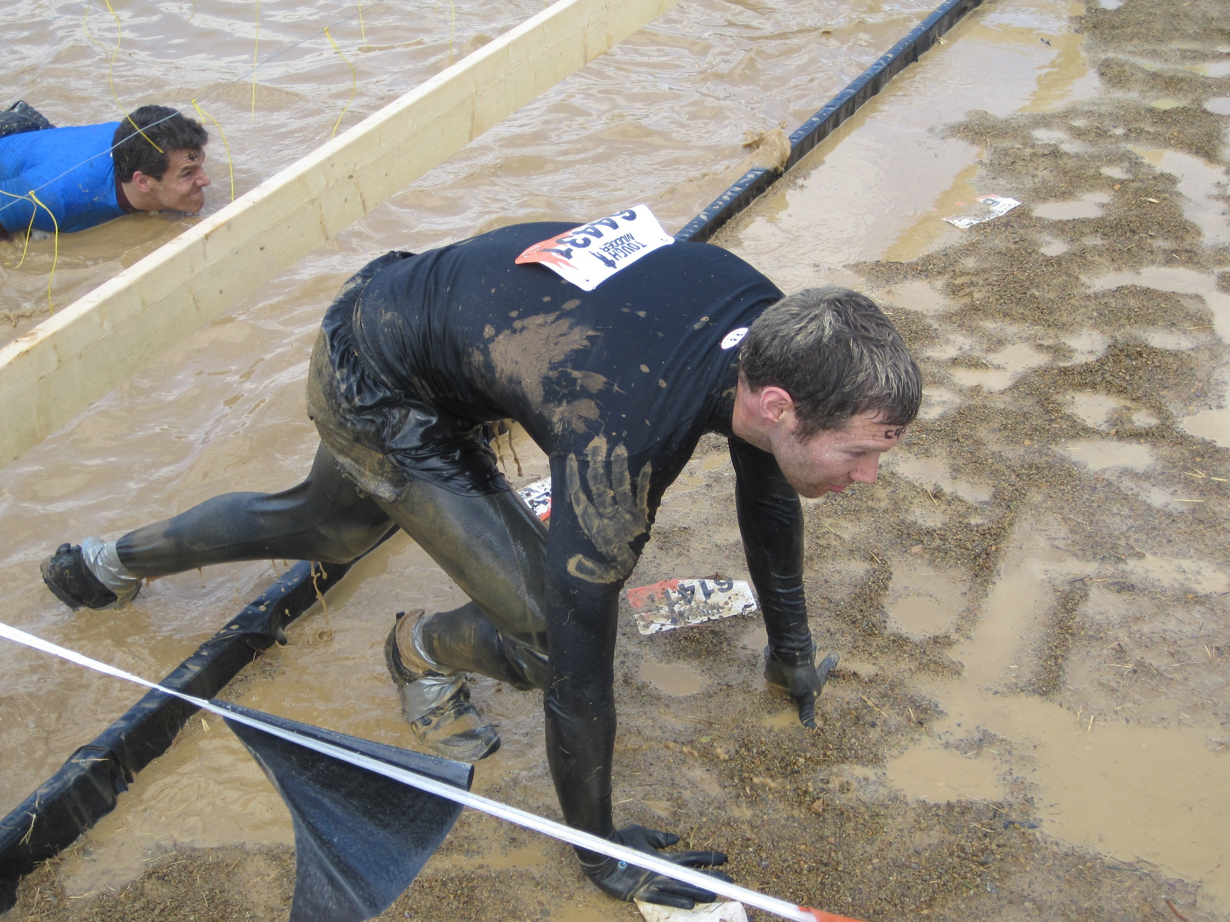 Harley Army-crawled through the Electric Eel obstacle, and indeed traversed all the obstacles, just a little faster than I did.