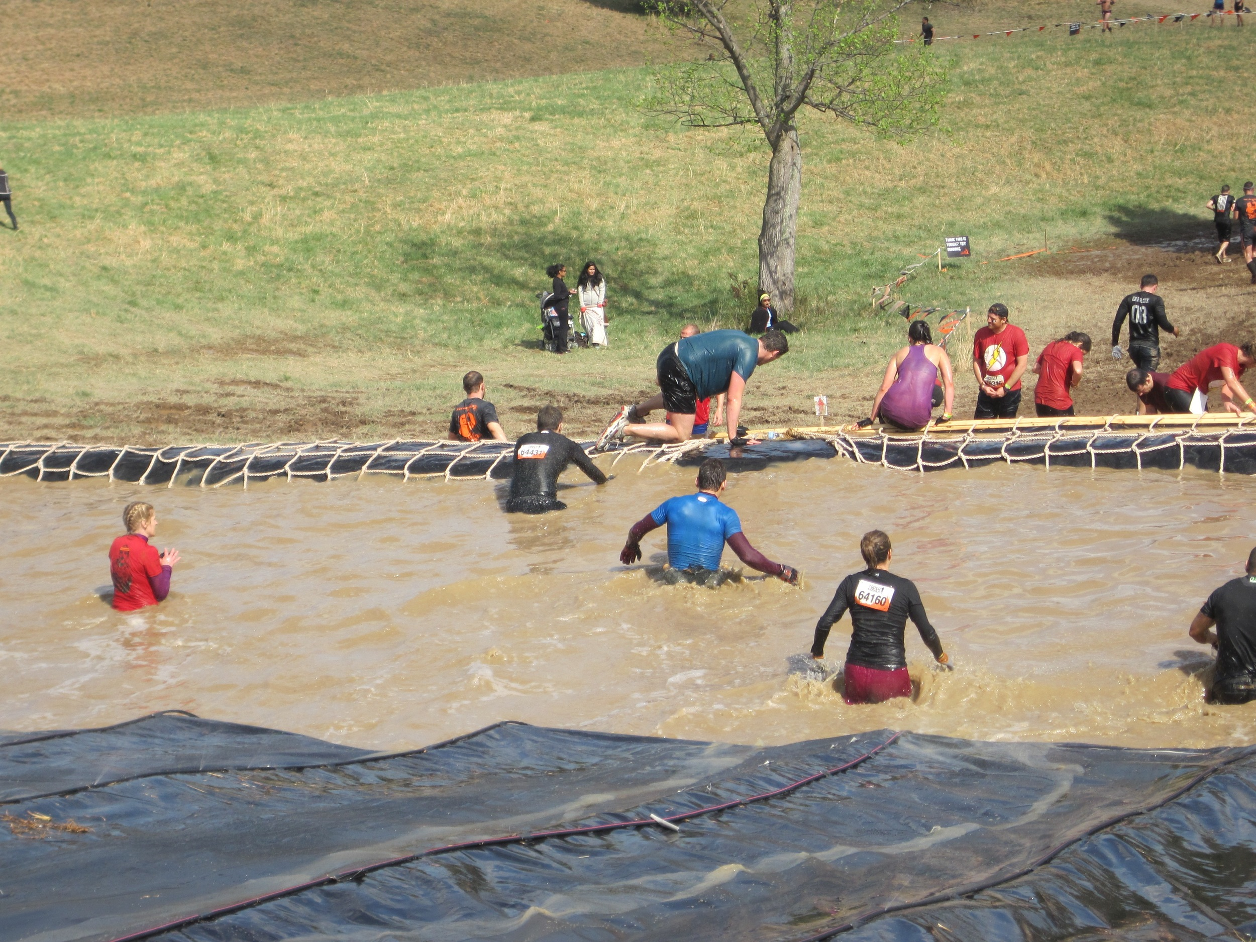 ...at least until you get to the bottom, when you're wading through more cold, muddy water. This was the fourth consecutive water obstacle in the final quarter of the race.