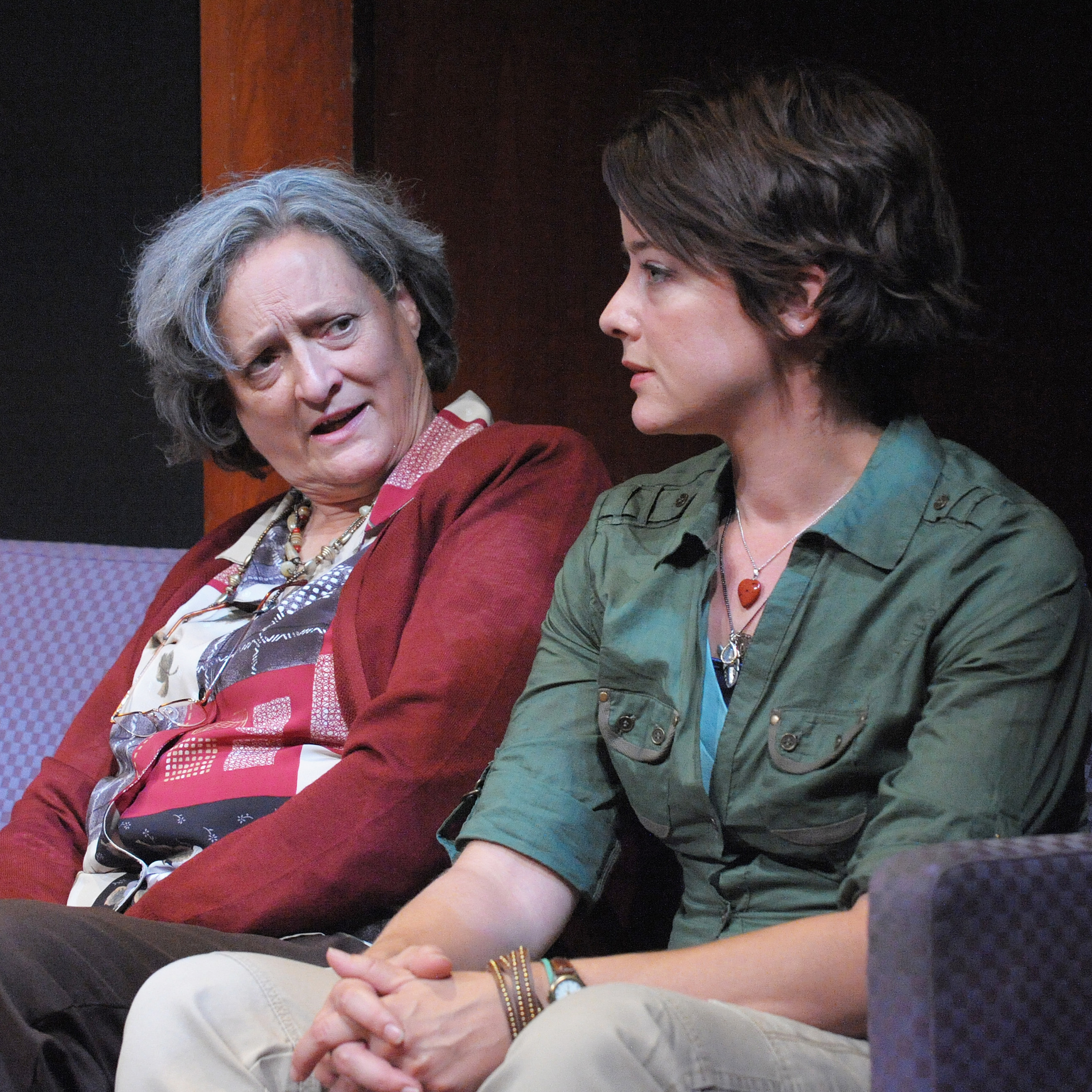 Nancy Robinette & Megan Anderson in  After the Revolution.  Photo: Stan Barouh/Theater J.