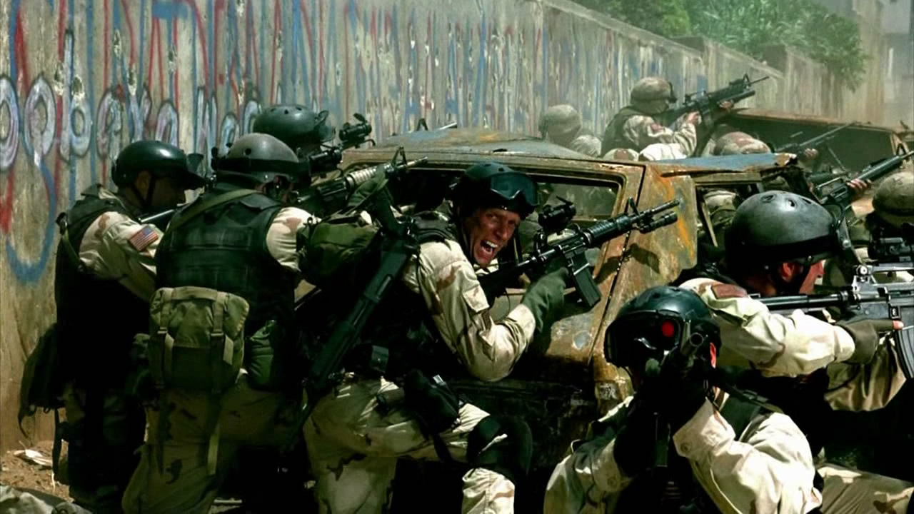 Ridley Scott's 2001  Black Hawk Down  is inescapably an action movie.