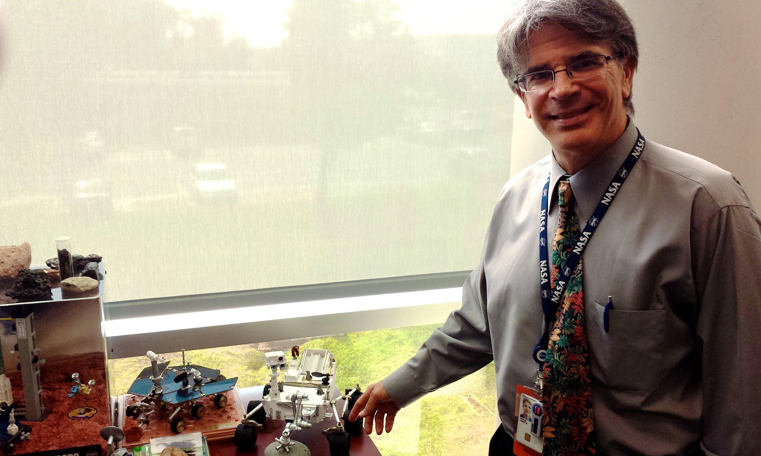 Jim Gavin, Chief Scientist, in his office at Goddard Space Flight Center.