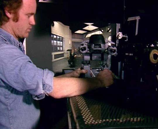 Phil Tippett and ED-209. (RoboCop Archive)