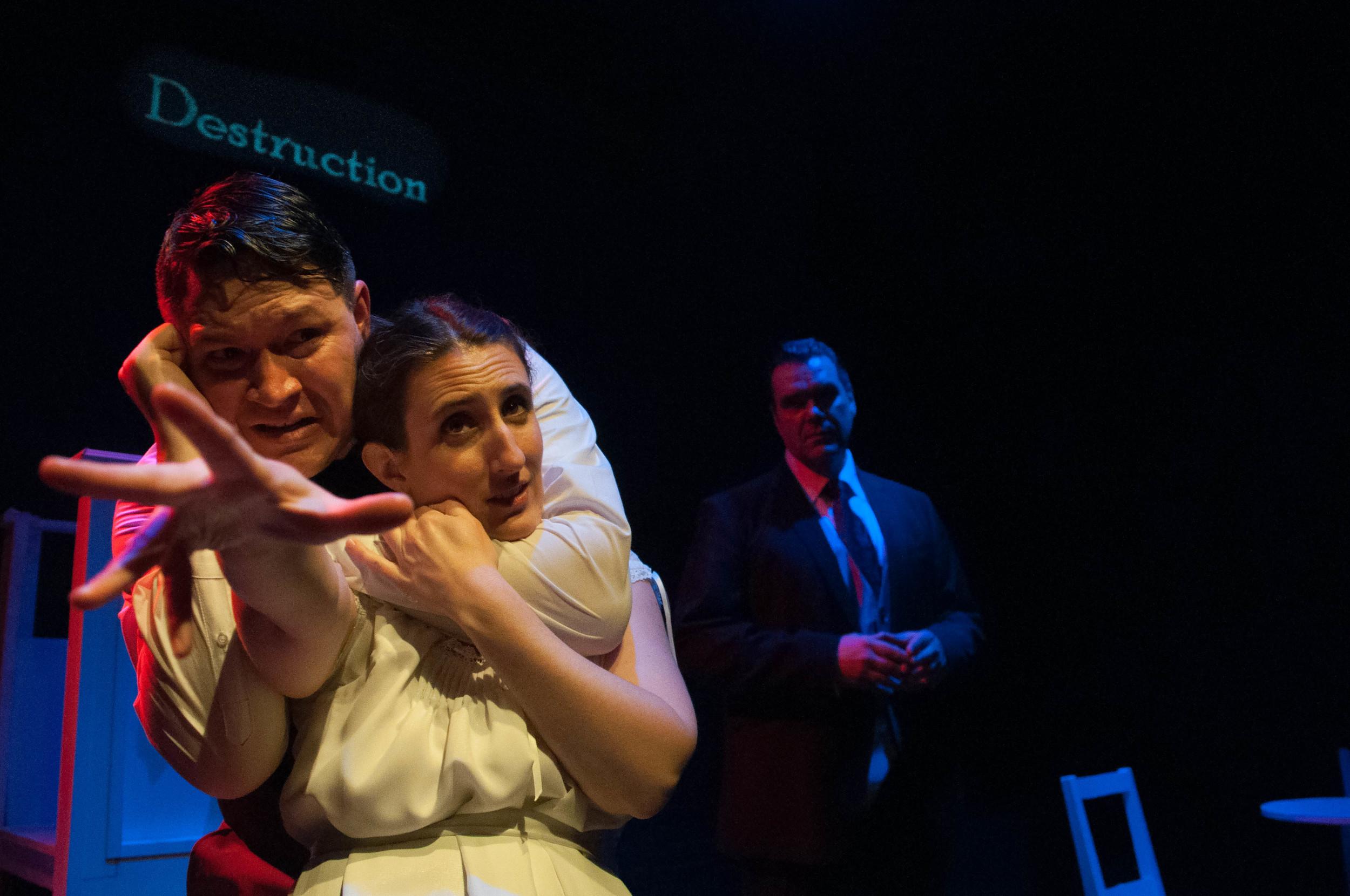 Brian McDermott, Elizabeth Darby, and Alex Zavistovich in  Normal  (Kristin Jackman)