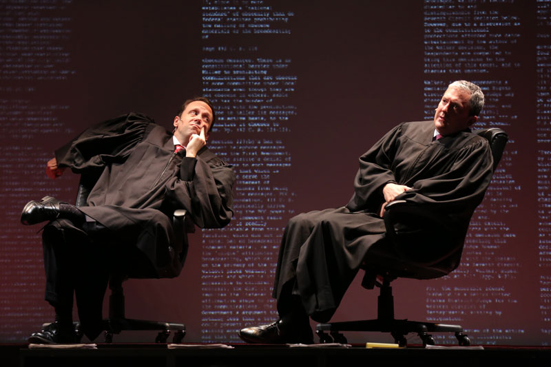 Mike Iveson and Vin Knight in  Arguendo , a show that needs more contemporary argu-mojo.(Joan Marcus)