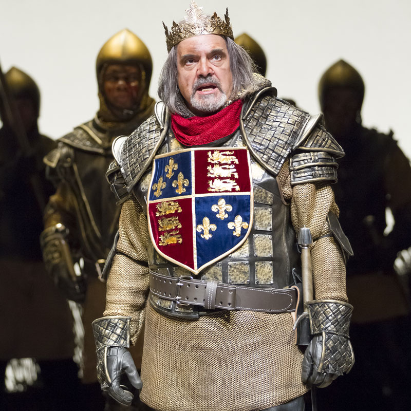 Uneasy lies the head that wears a crown. Edward Gero in  Henry IV, Part 1 .