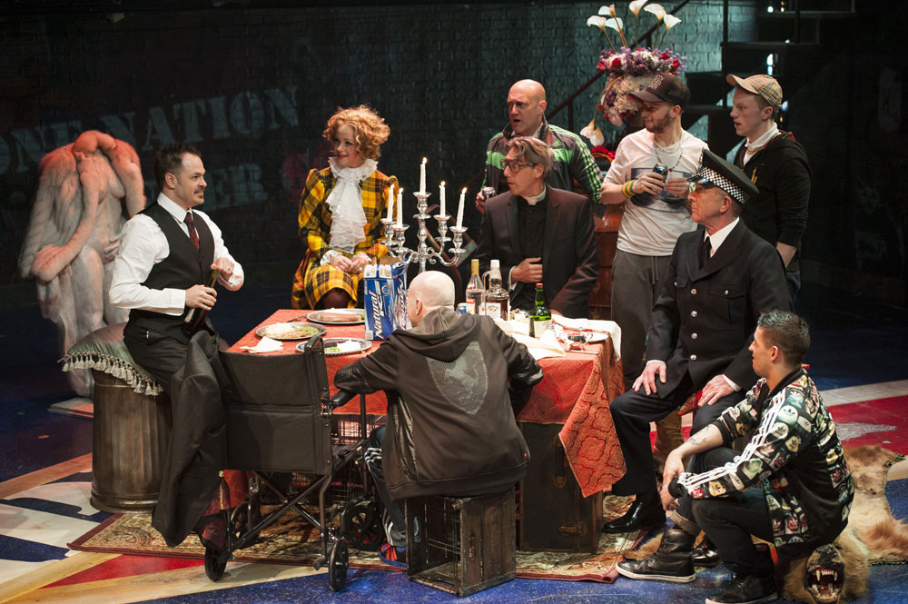MacHeath & Polly's wedding banquet (Margot Schulman)