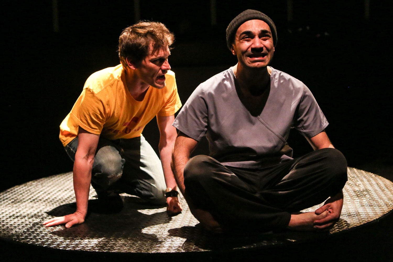 Patrick Bussink and Maboud Ebrahimzadeh as Jesus and Judas