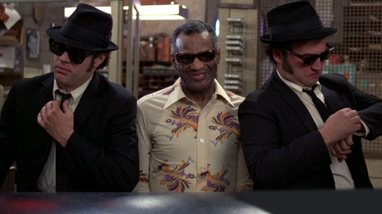 Dan Akroyd, Ray Charles, & John Belushi. I did everything I could for John Landis'  The Blues Brothers  (1980), to no avail.