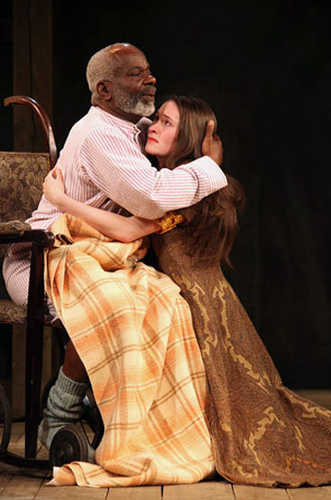 Joseph Marcell and Bethan Cullinane in  King Lear  (Ellie Kurttz).