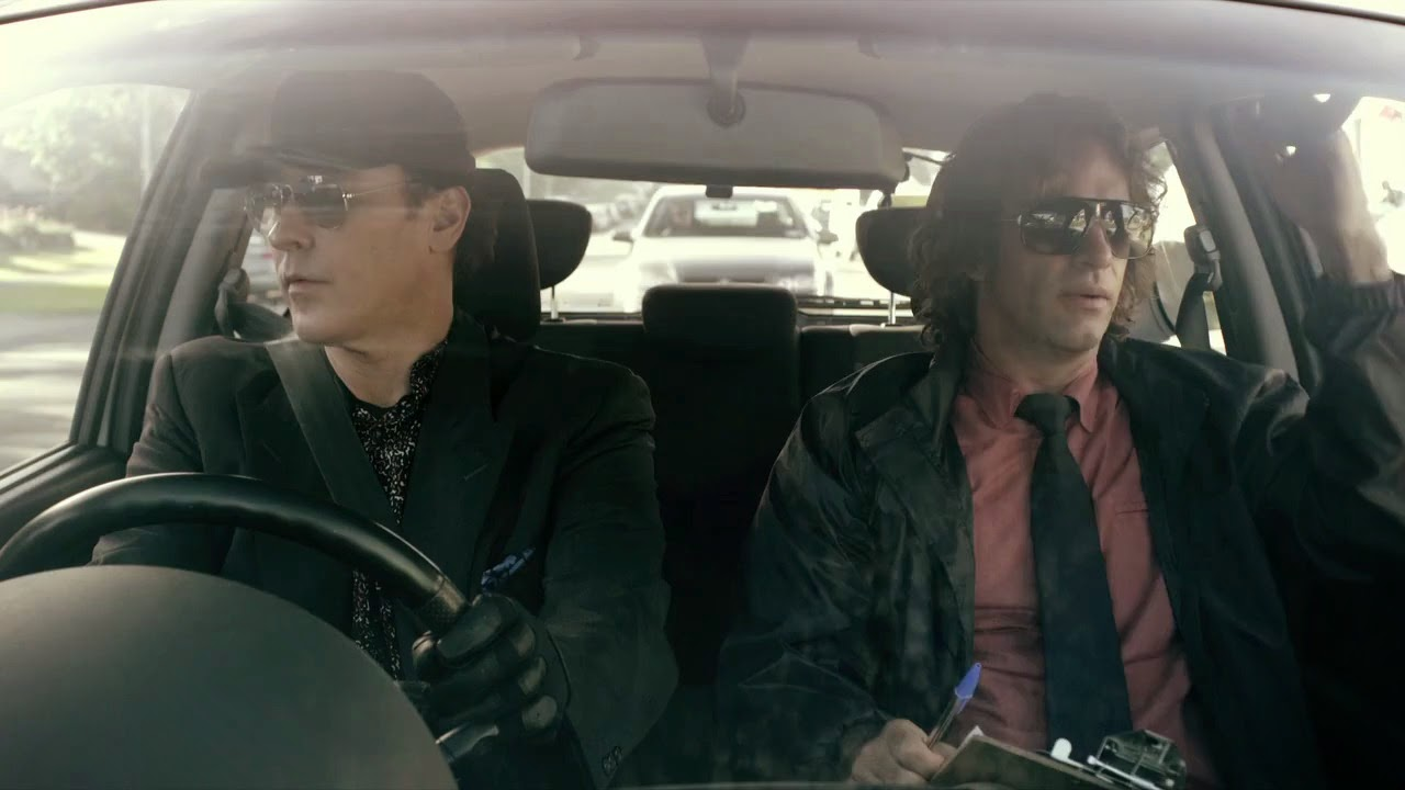 John Cusack and Thomas Jane are both slumming in the low-budget chase flick  Drive Hard .