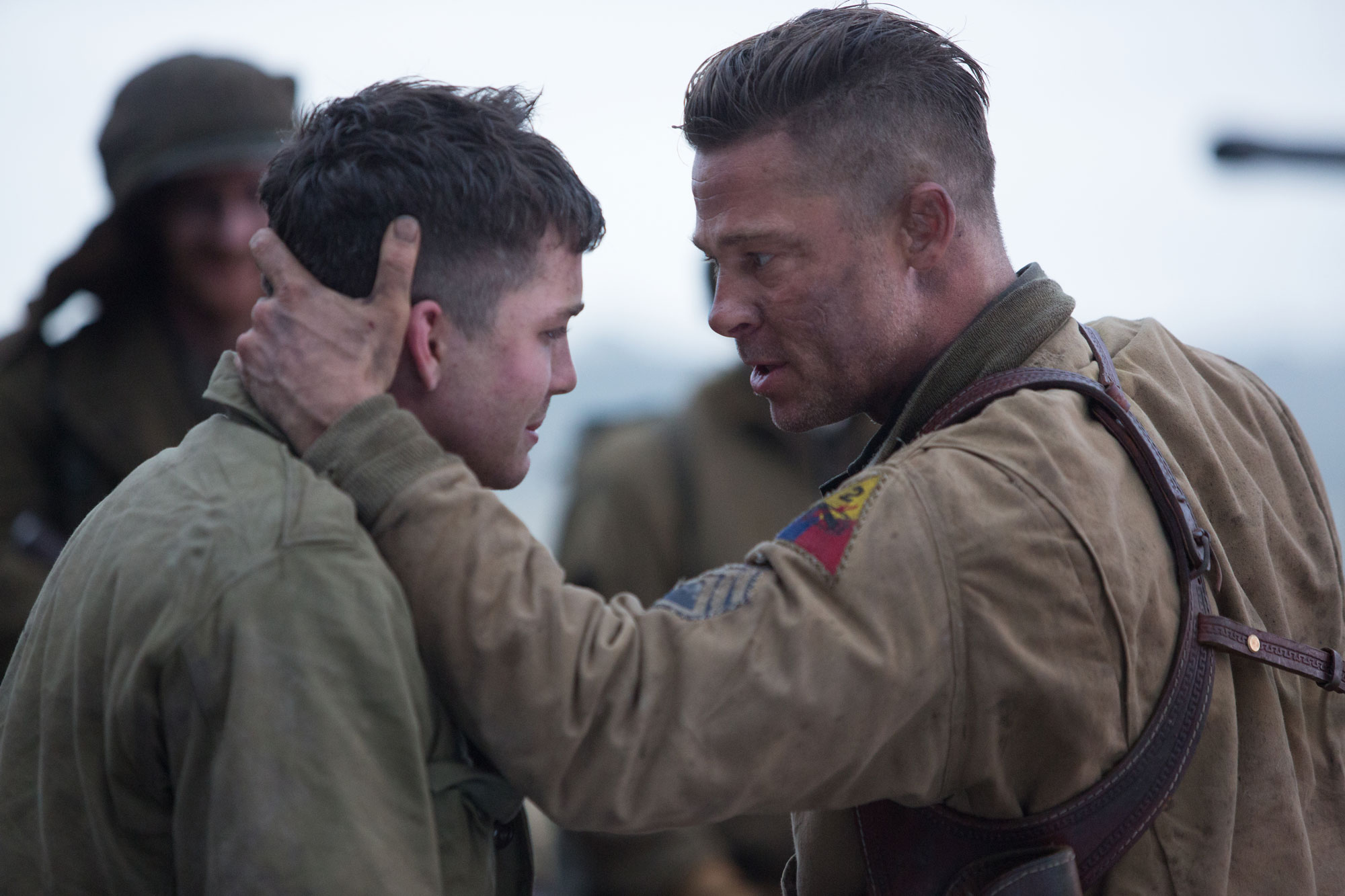 Logan Lerman is a green member of Brad Pitt's tank crew in David Ayer's  FURY .