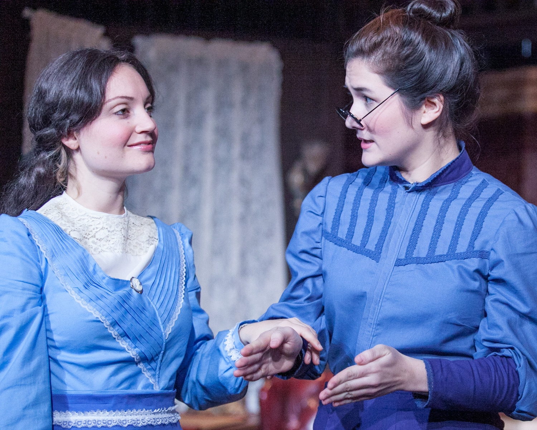 Miranda Medugno & Sarah Anne Sillers as Helen Keller & Anne Sullivan. (C. Stanley Photography)