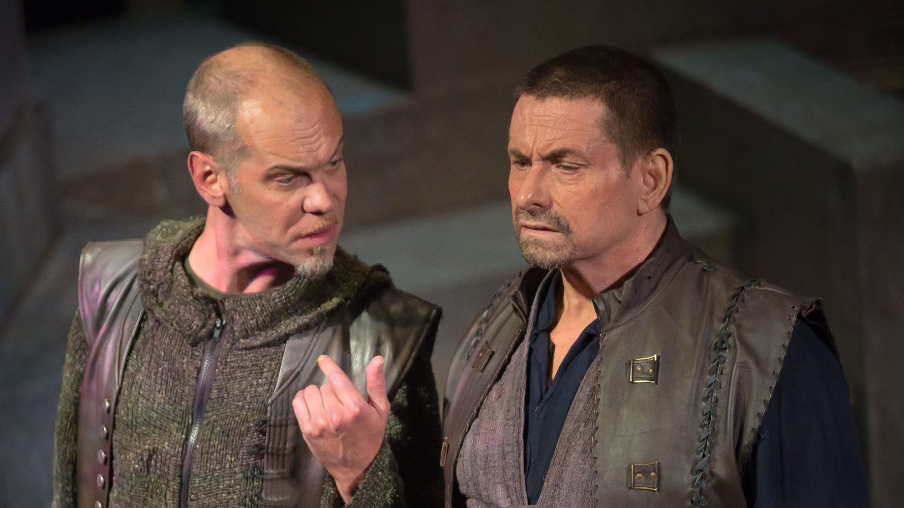 Louis Butelli and Anthony Cochrane in  Julius Caesar.  (Jeff Malet)