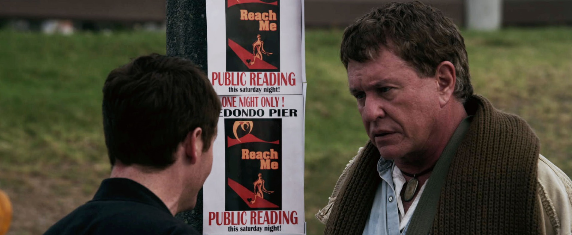 Kevin Connelly & Tom Berenger arrange one of those popular public readings of self-help books.