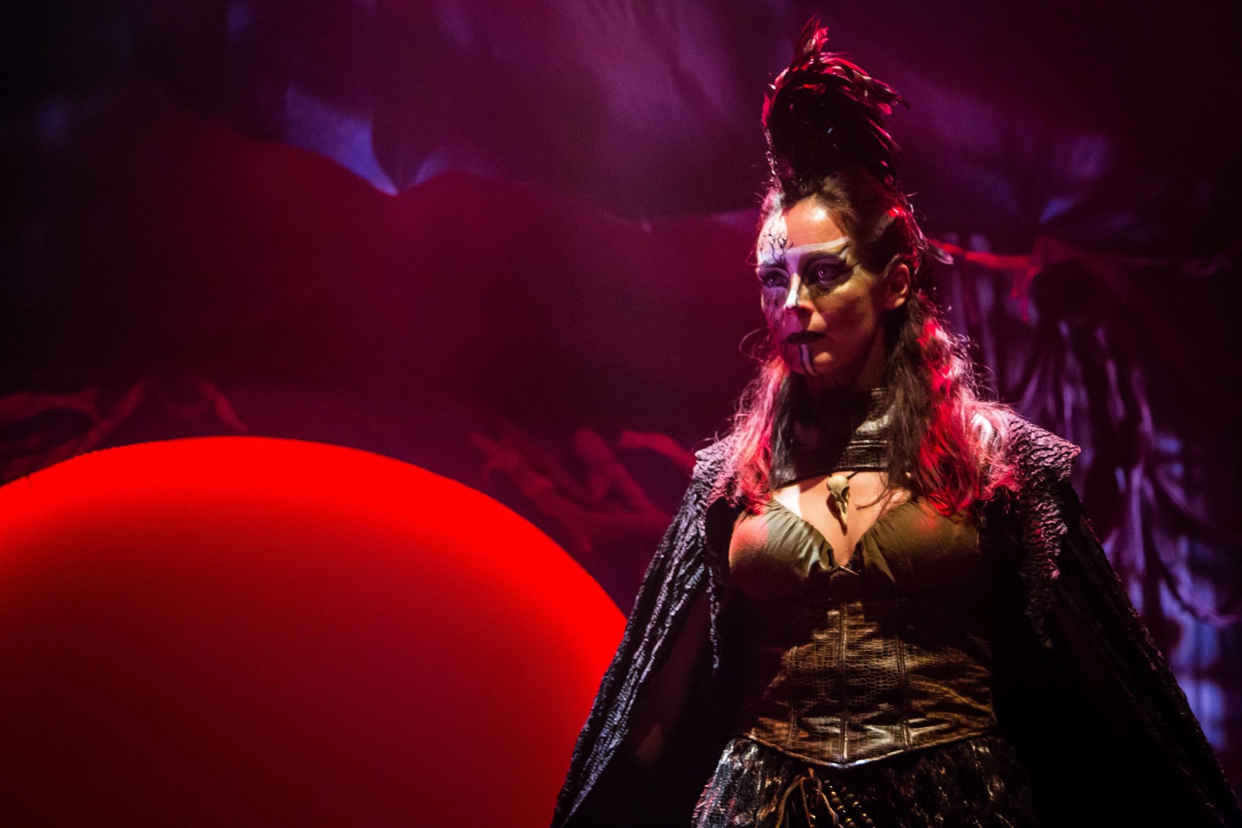 Renata Veberyte Loman narratesSynetic Theater's new adaptation. (Johnny Shryock)