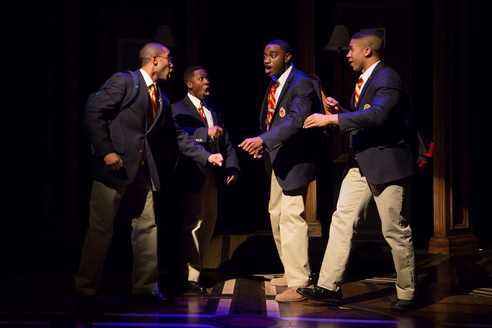 Jonathan Burke, Eric Lockley, Jelani Alladin, and Jaysen Wright in  Choir Boy  at Studio Theatre. (Igor Dmitry)