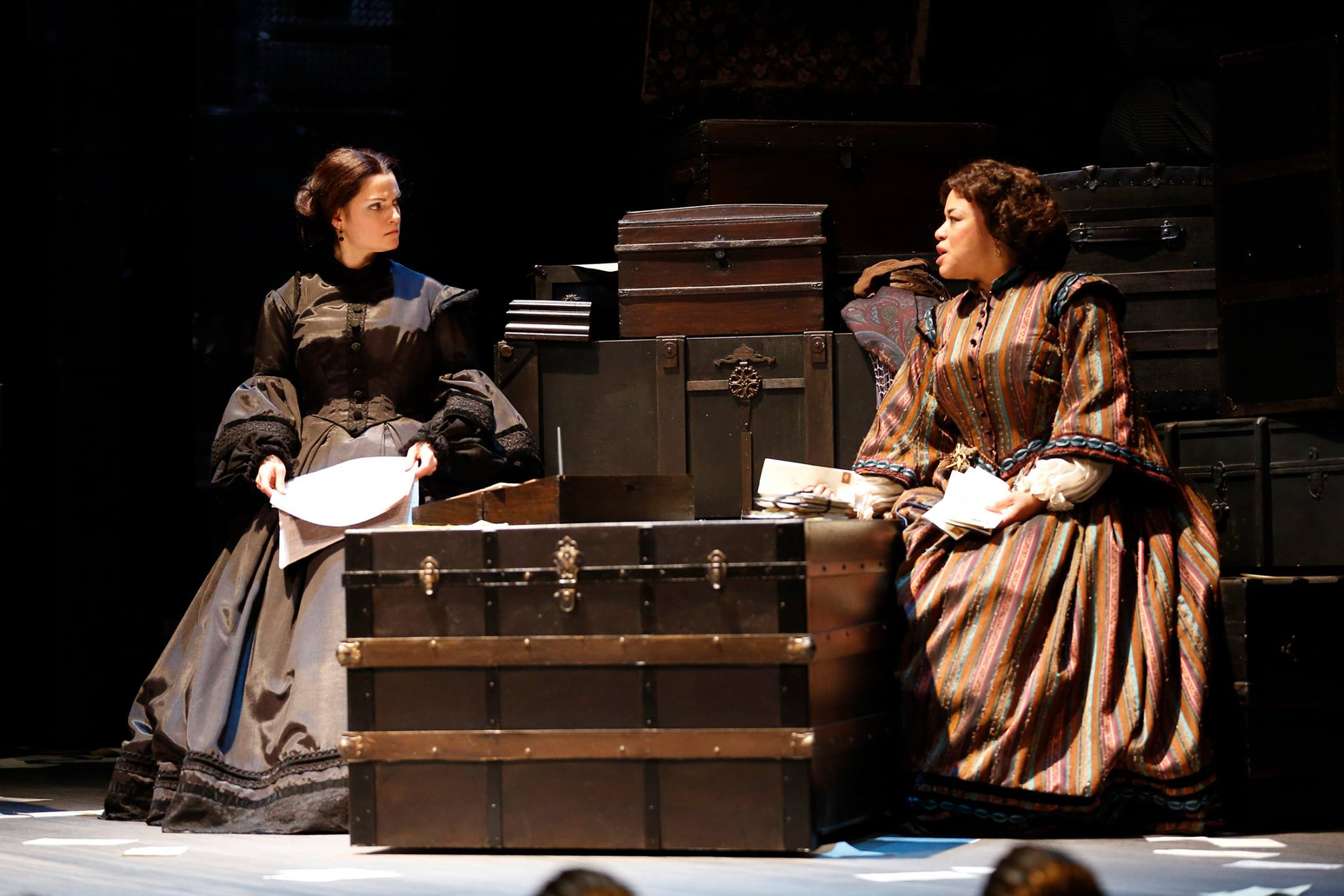 Mary Bacon & Caroline Clay as Mary Todd Lincoln and Elizabeth Keckley in  The Widow Lincoln .