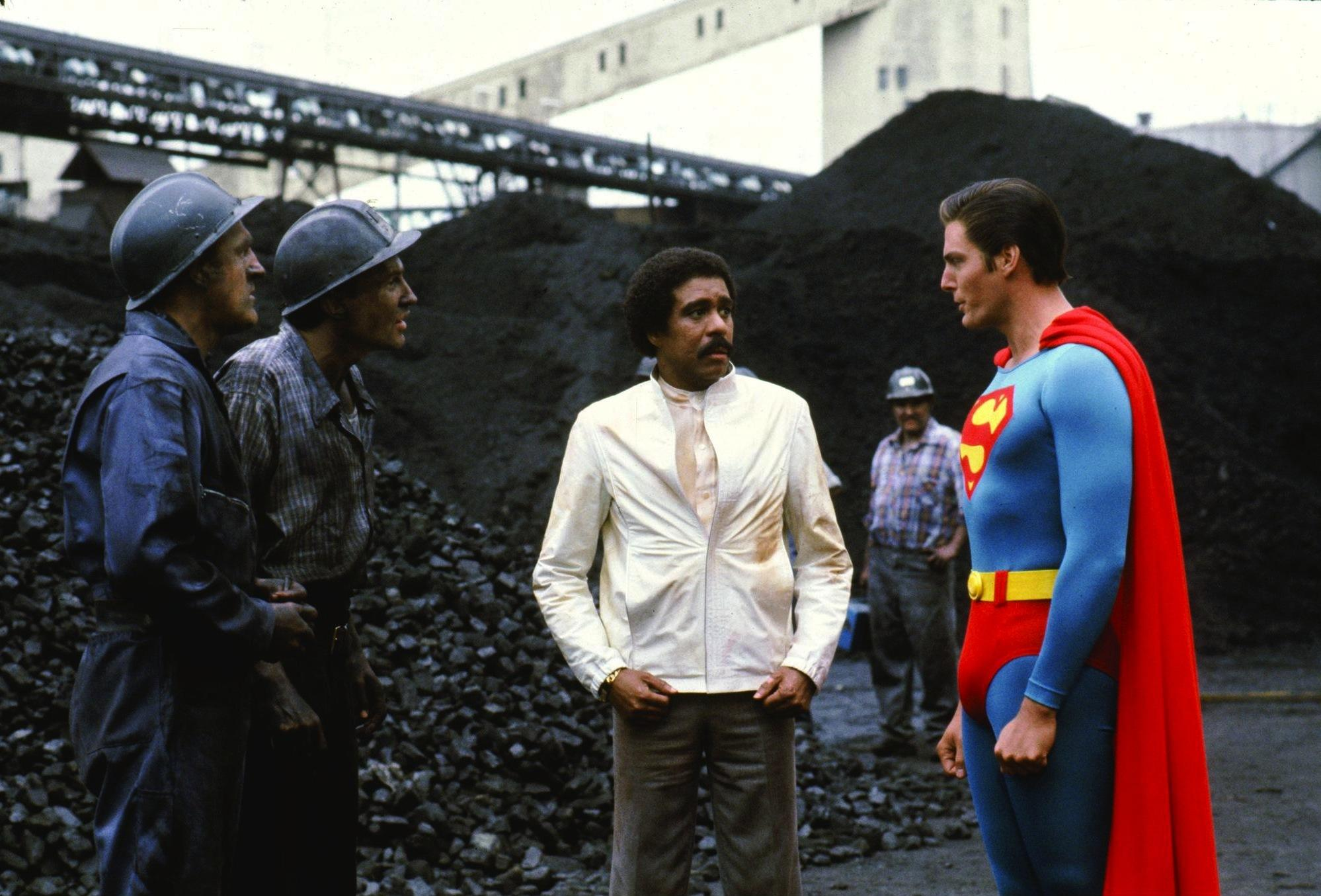 Superman III, 1983. According to Bryan Singer, this never happened.