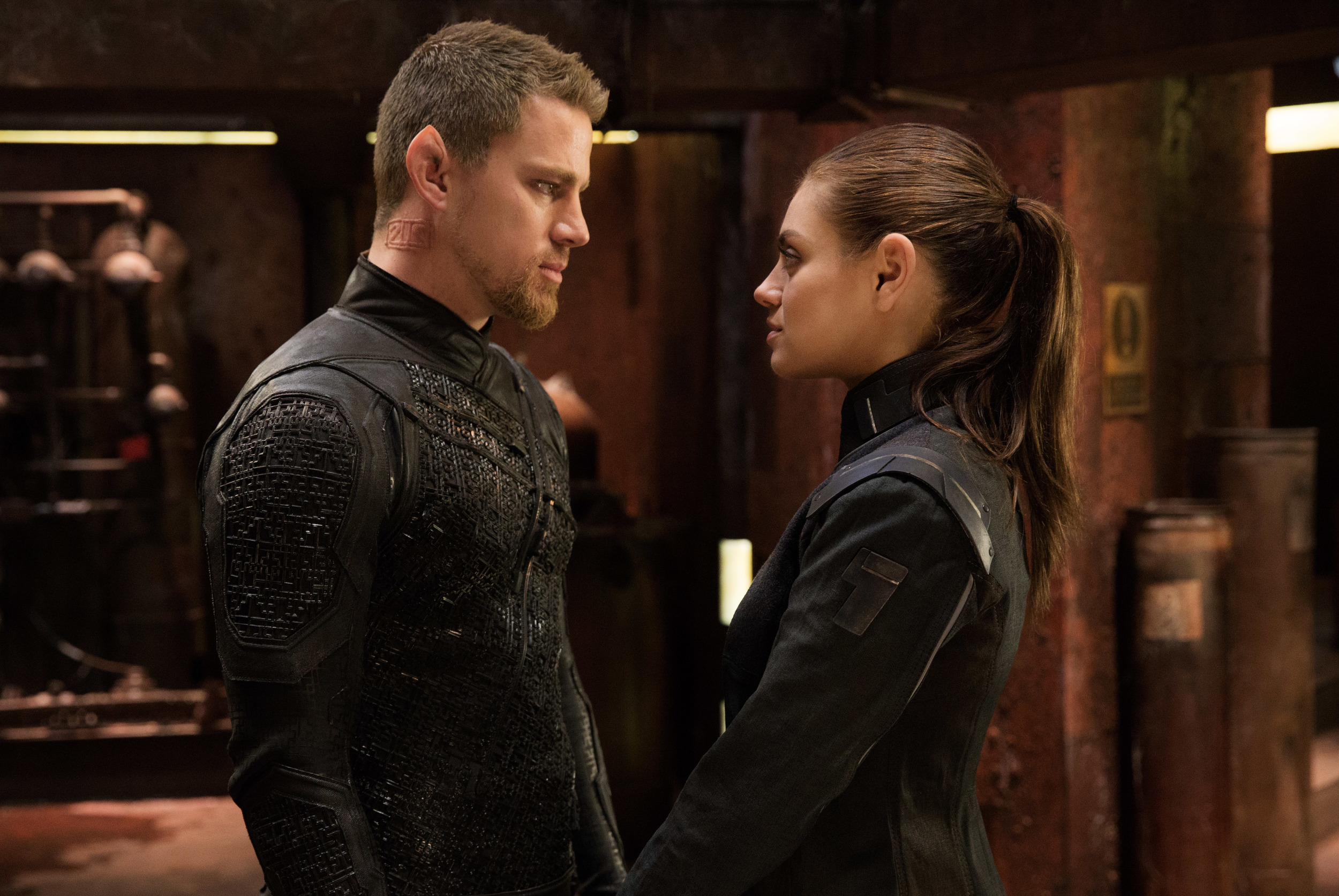 Channing Tatum and Mila Kunis in  Jupiter Ascending (Murray Close/Warner Bros.)