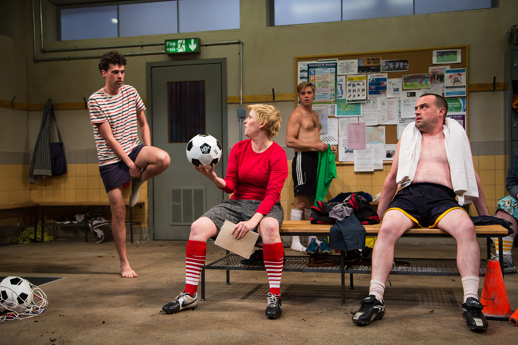 Liam Forde, Kimberly Gilbert, Zdenko Martin, and Michael Glenn in  Jumpers for Goalposts.  (Igor Dmitry)