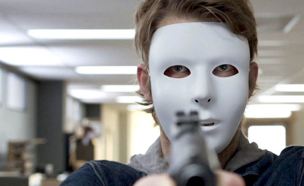 Luke Mitchell has a mask and a gun but not much of a plan.