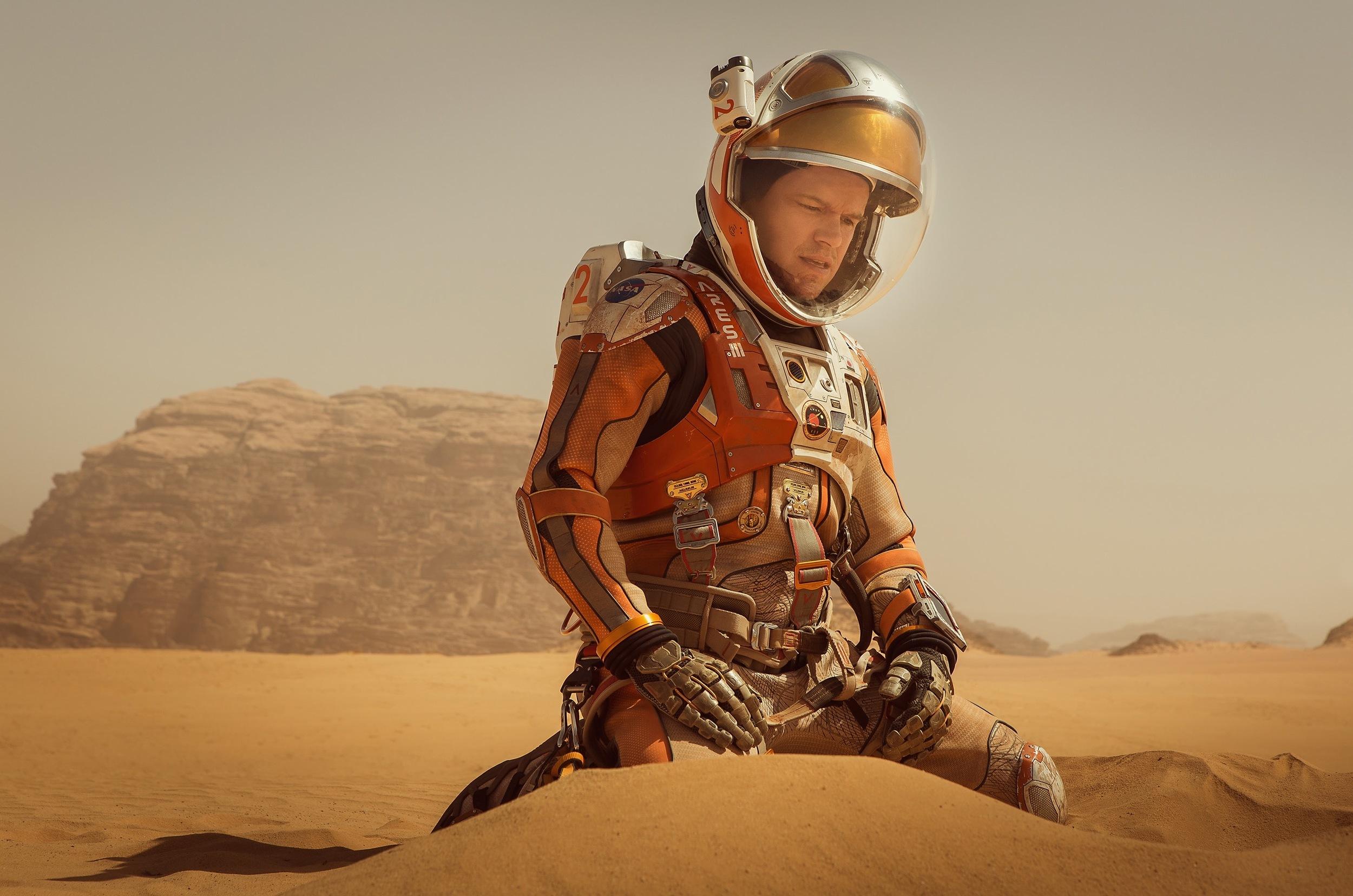 Good Matt Damon in  The Martian .(Aidan Monaghan/20th Century Fox)