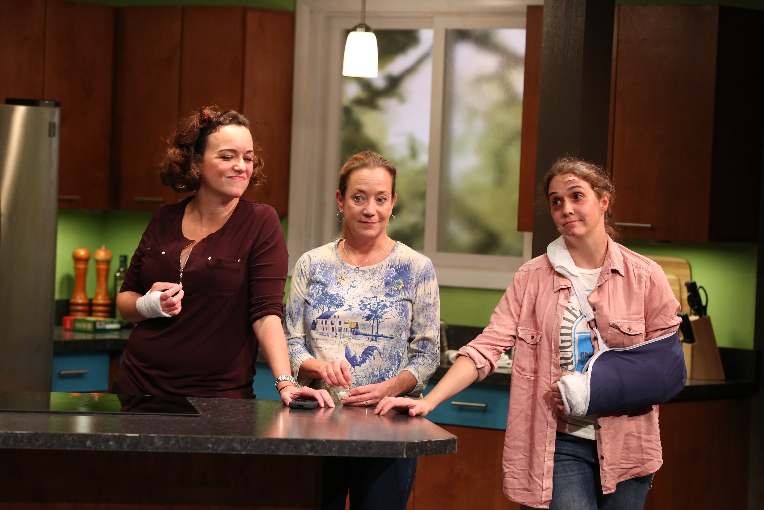 Emily Townley, Amy McWilliams, and Holly Twyford in  Bad Dog  (Nicholas Griner).