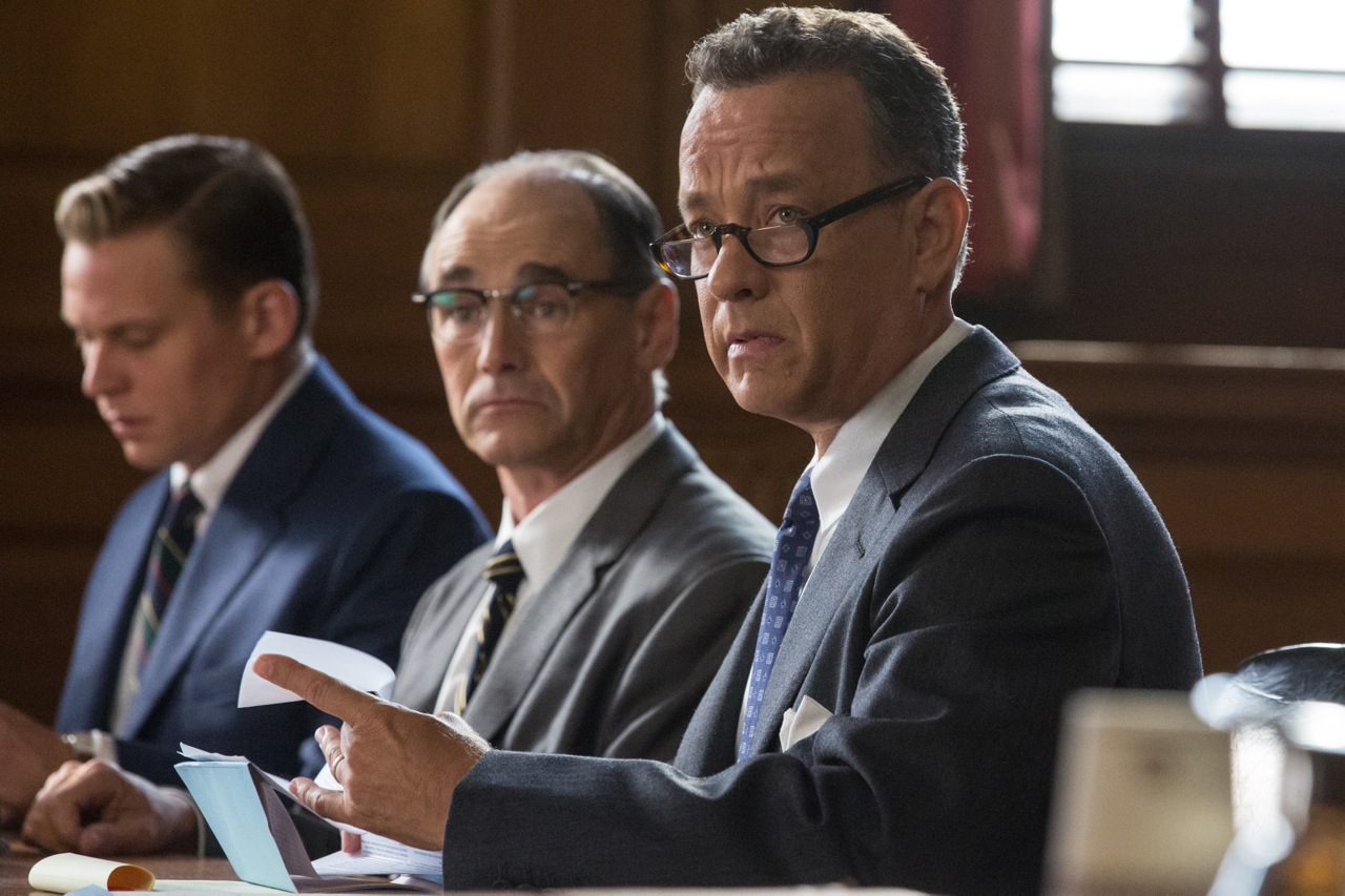 Billy Magnusson, Mark Rylance, and Tom Hanks in  Bridge of Spies.