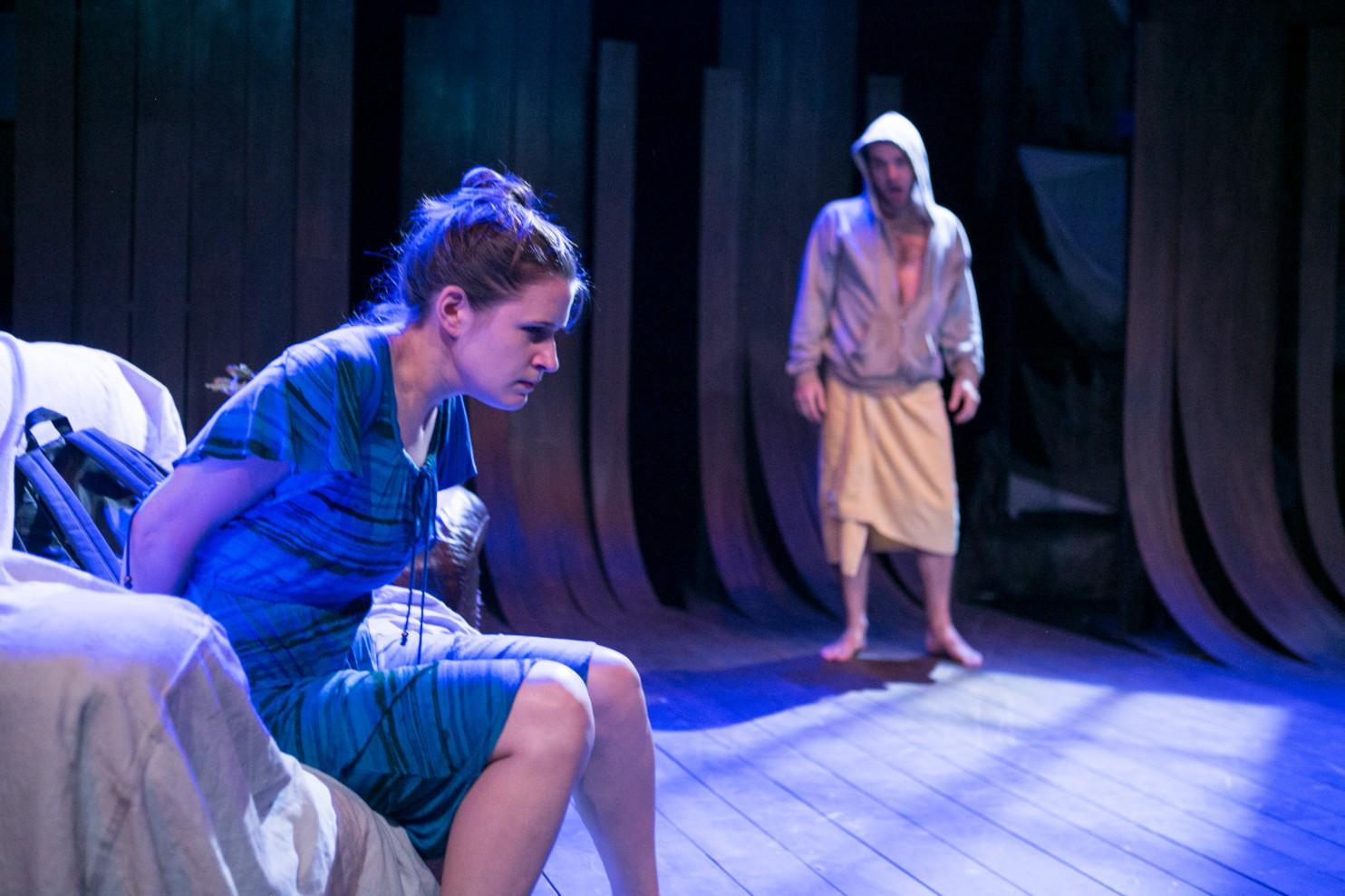 Brianna Letourneau and Scott Ward Abernethy in Keegan Theatre's  The Magic Tree.