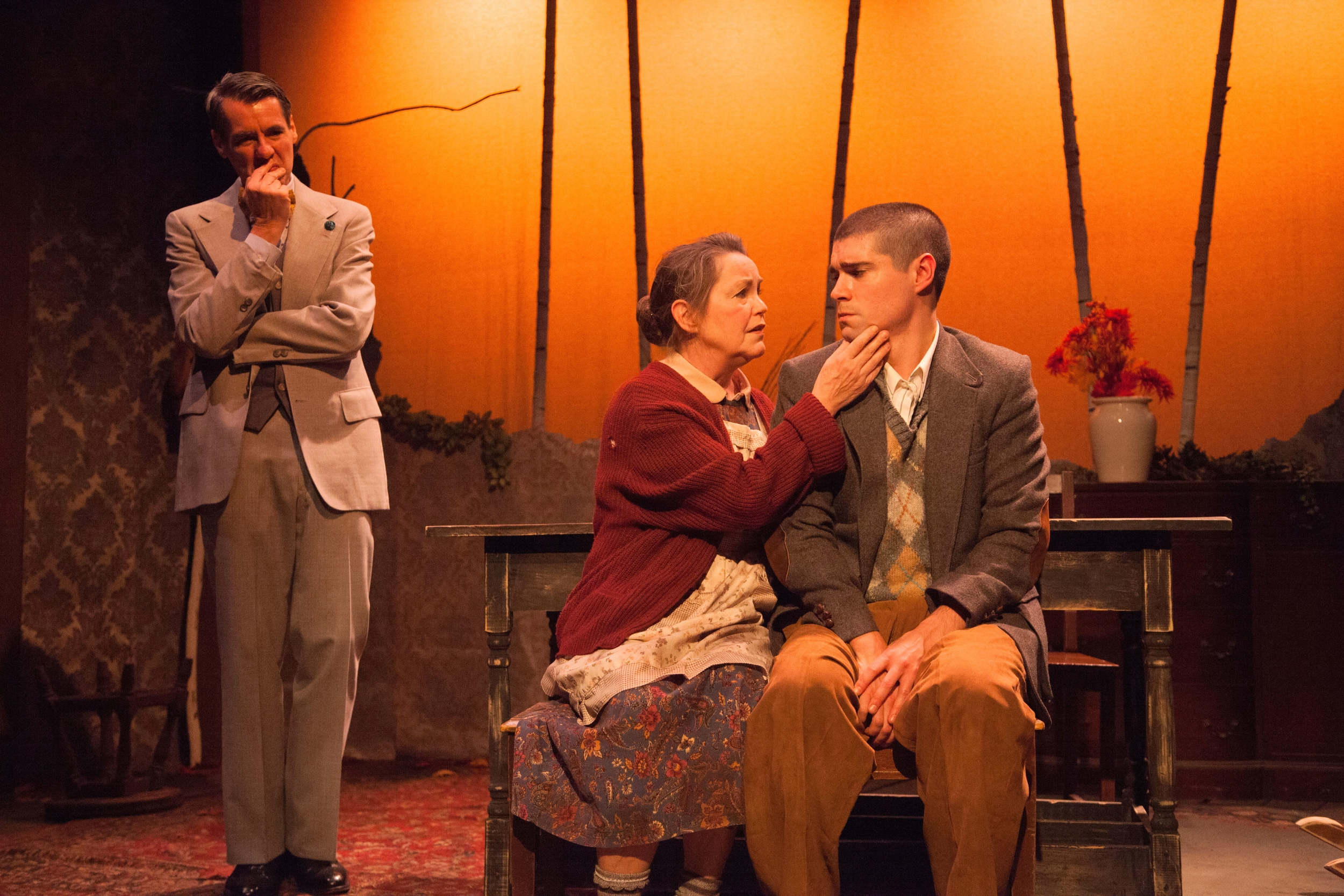 Christopher Henley, Charlotte Akin, and Séamus Miller in  Holiday Memories.  (DJ Corey Photography)