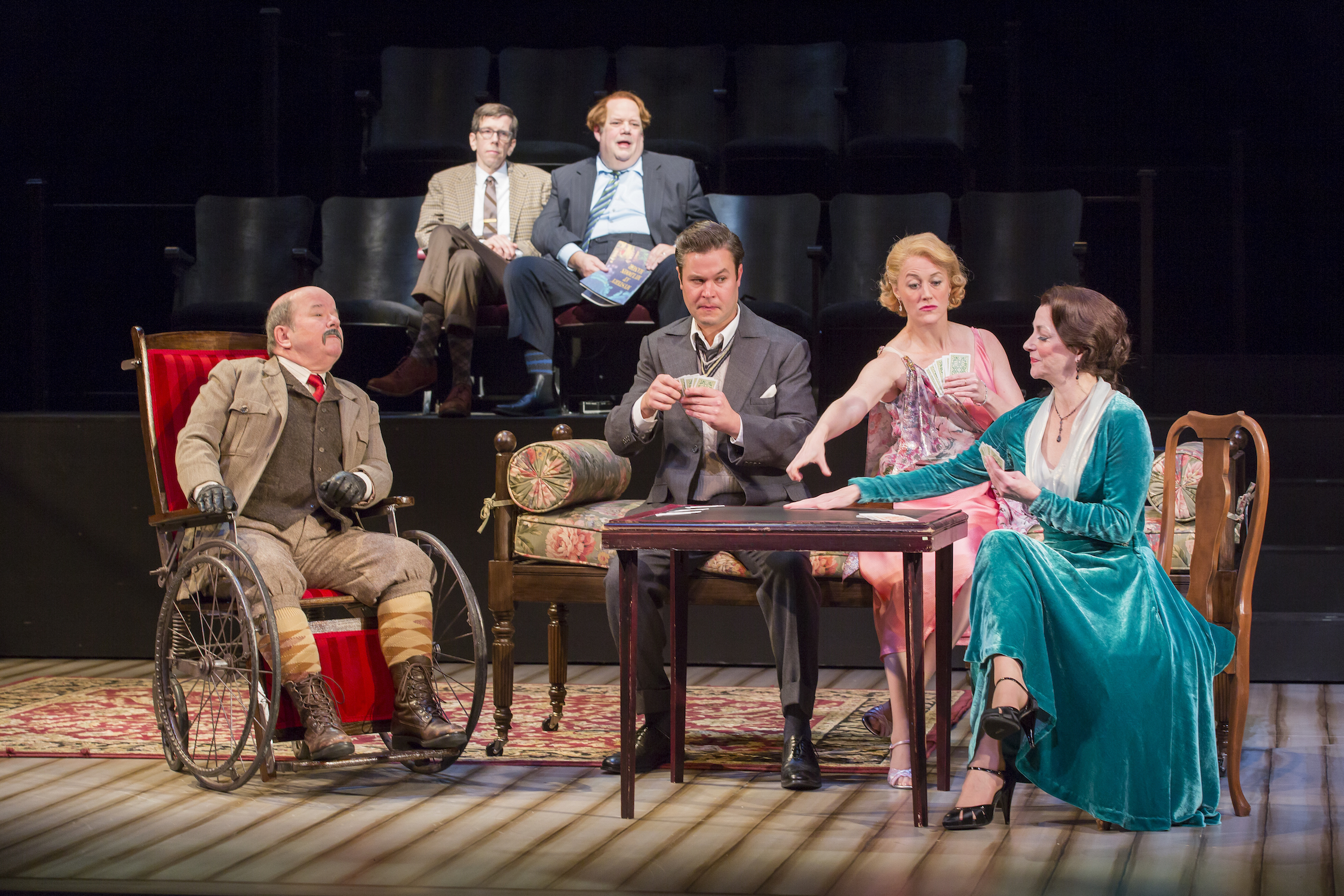 The cast of  The Real Inspector Hound  (Scott Suchman/Shakespeare Theatre Co.)