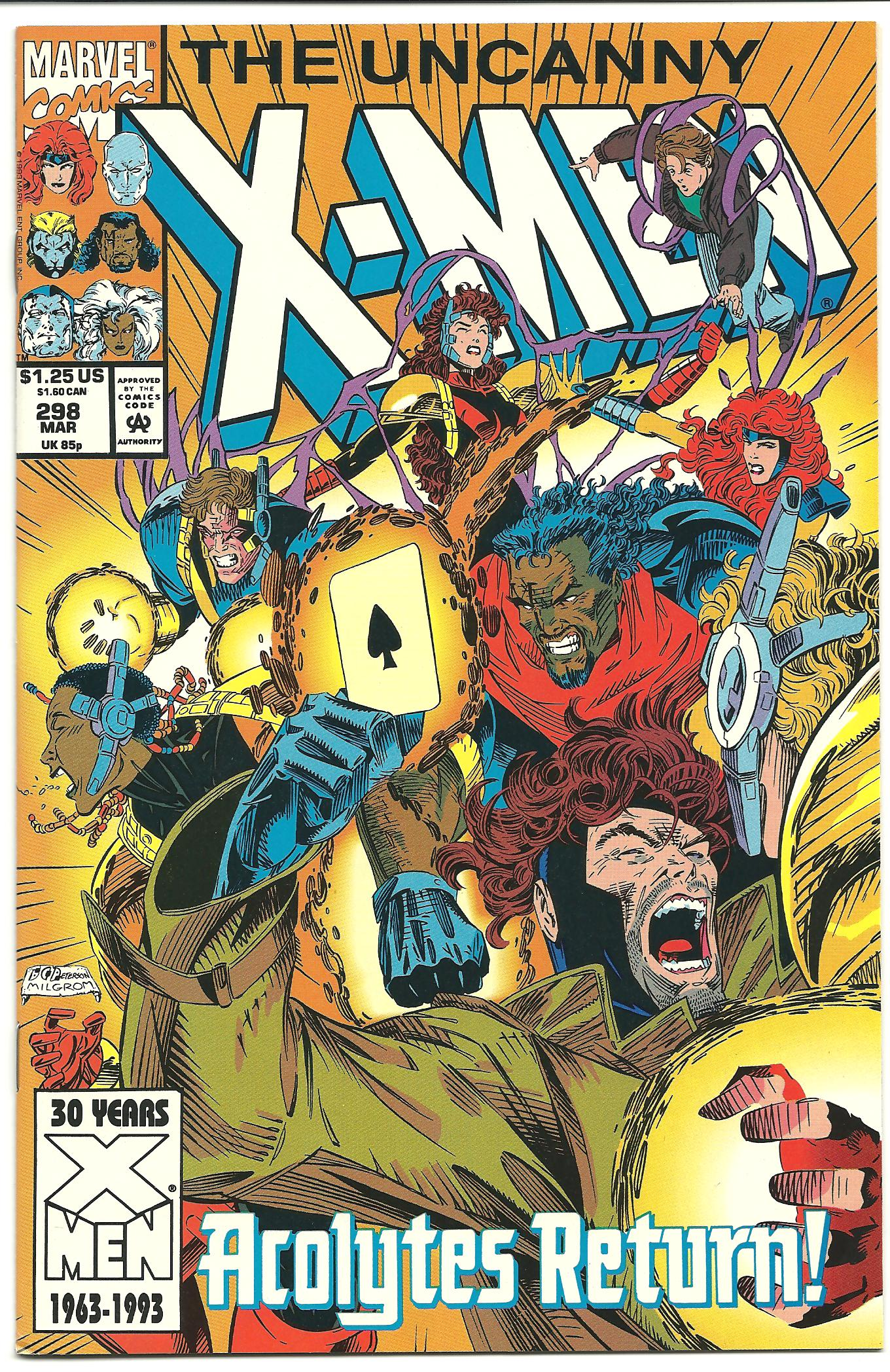 My term buying  The Uncanny X-Men  faithfully each month had ended by issue 298, cover-dated March 1993. Neither Daoud nor I could I.D. anyone on the cover other than Bishop and Gambit.