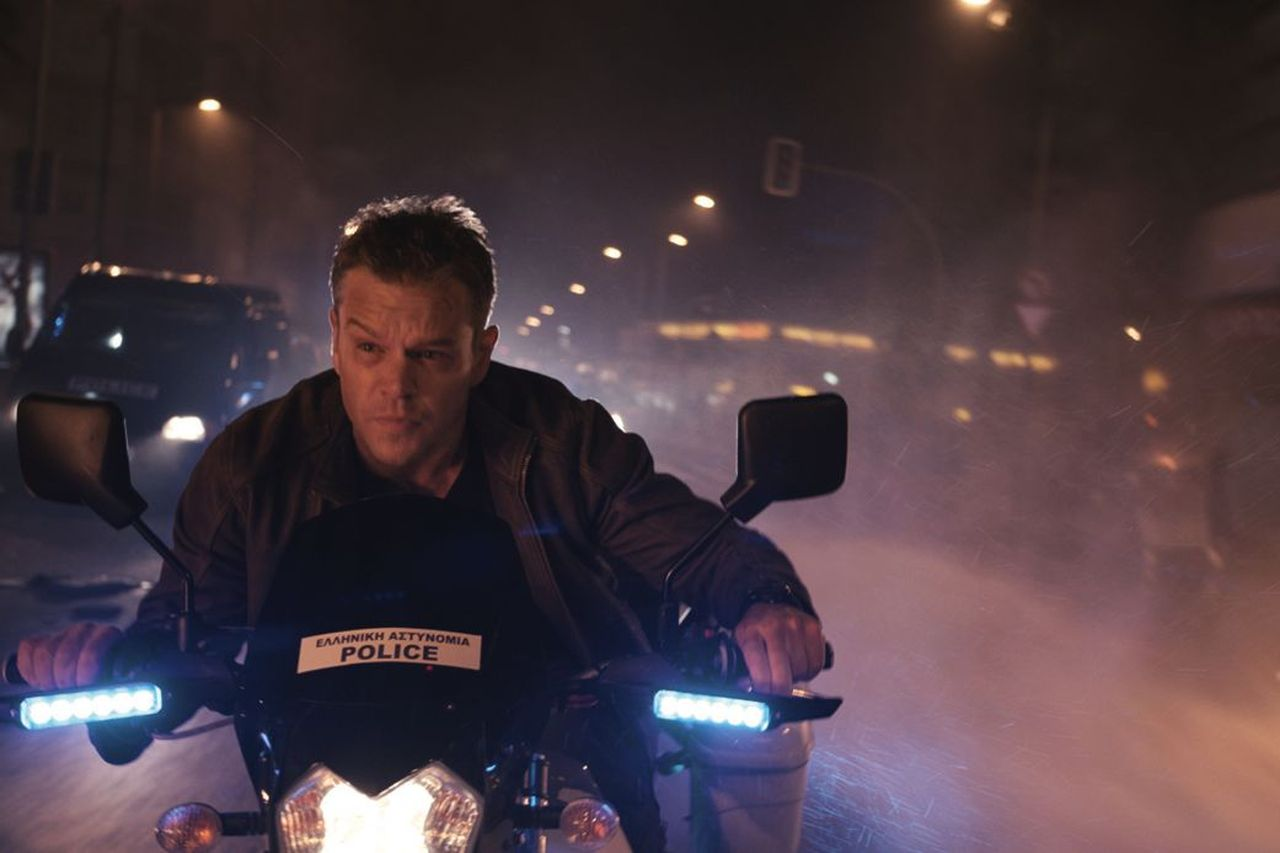 Matt Damon, gouing through the moutions in a fifth  Bourne . (Universal)