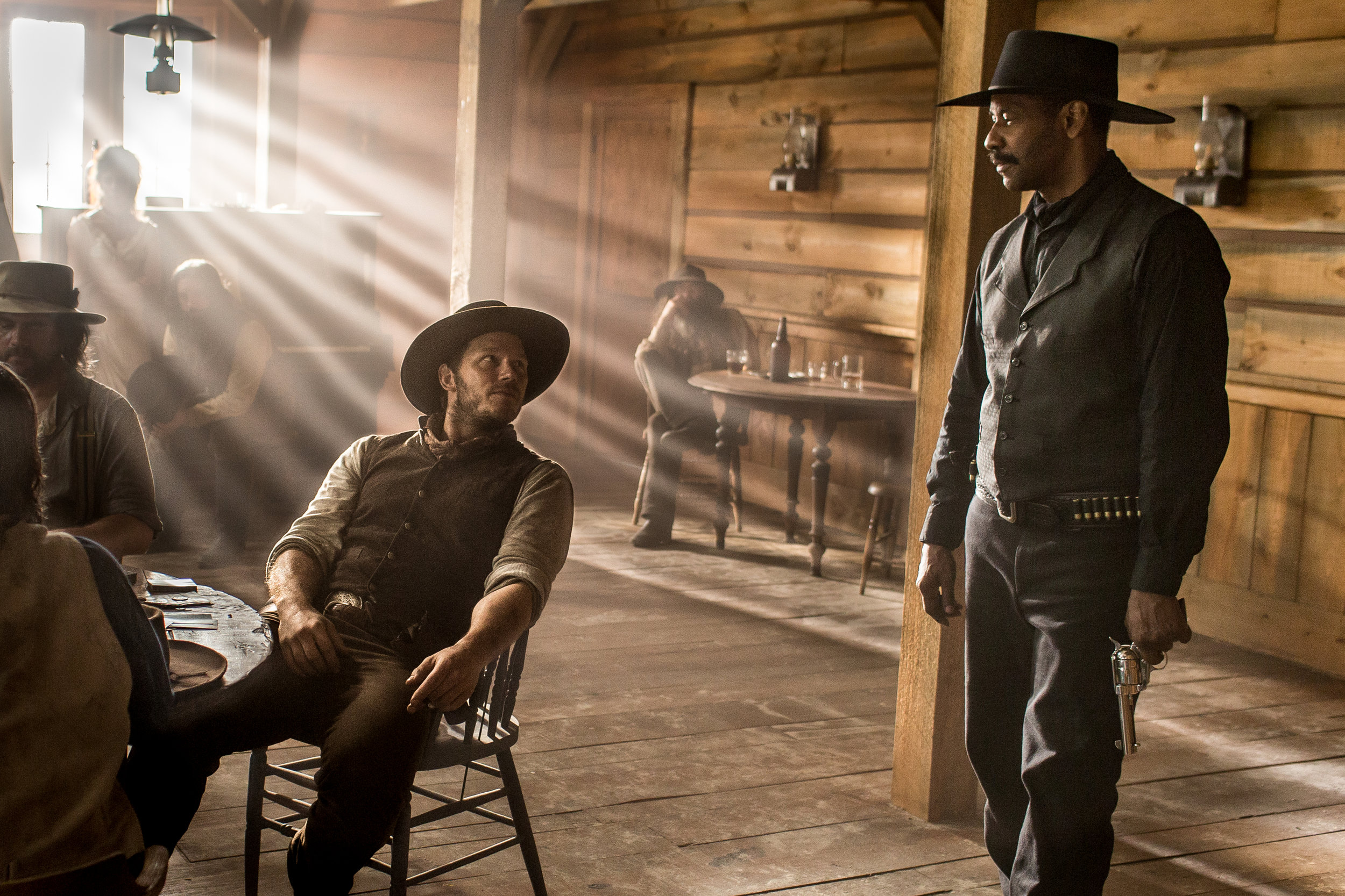 Chris Pratt and Denzel Washington take over for Steve McQueen and Yul Brynner, respectively, in Antoine Fuqua's update of  The Magnificent Seven.