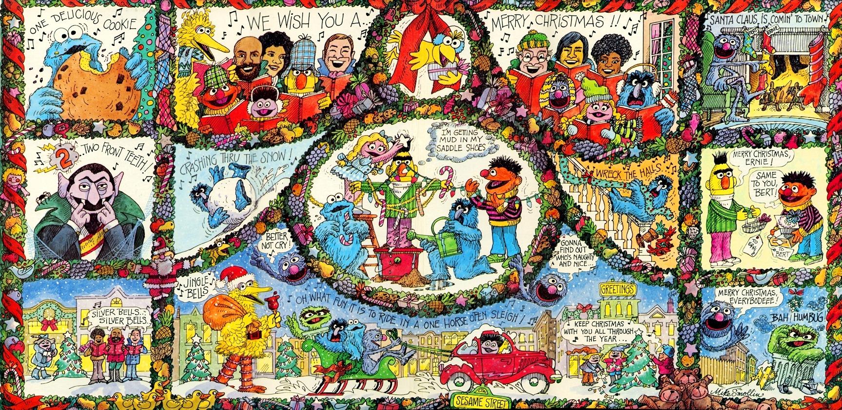 Merry Christmas Sesame Street gatefold.jpg