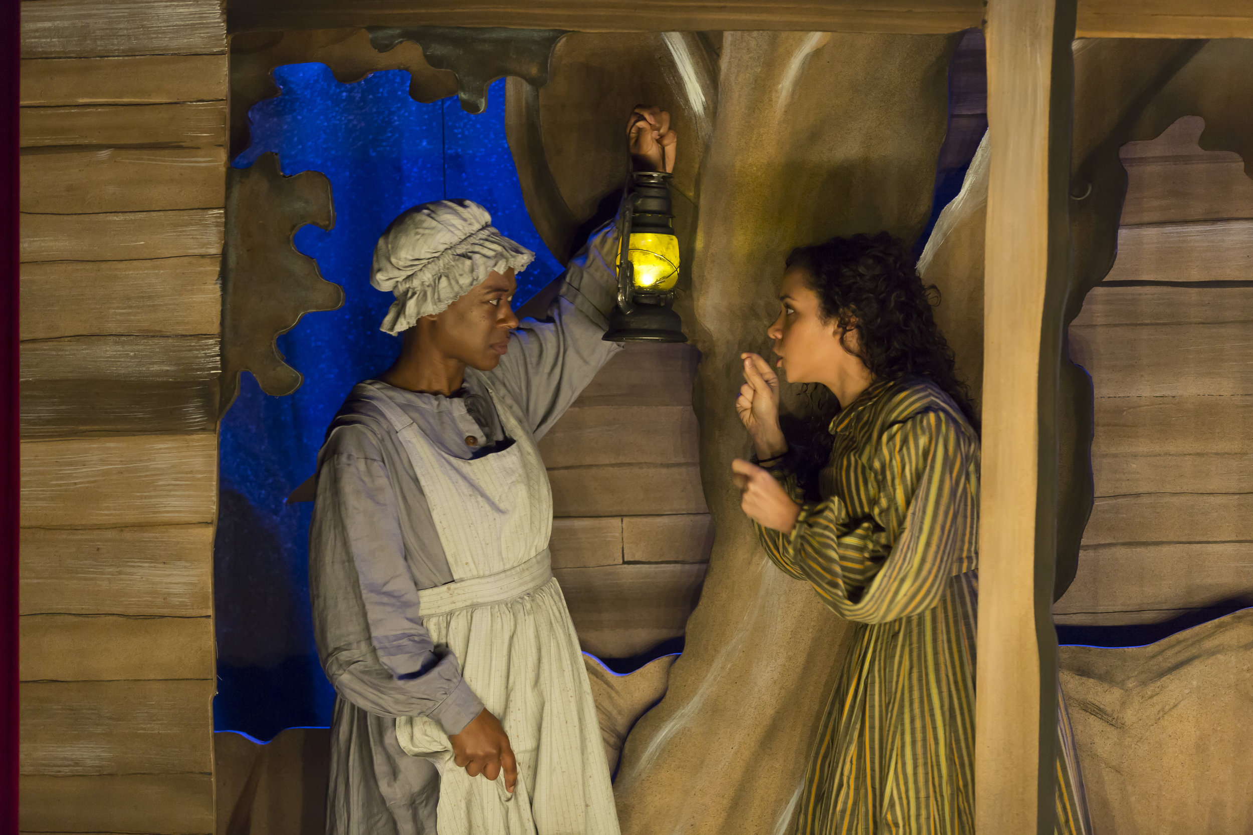 Erika Rose and Kathryn Tkel in  An Octoroon  (Woolly Mammoth).