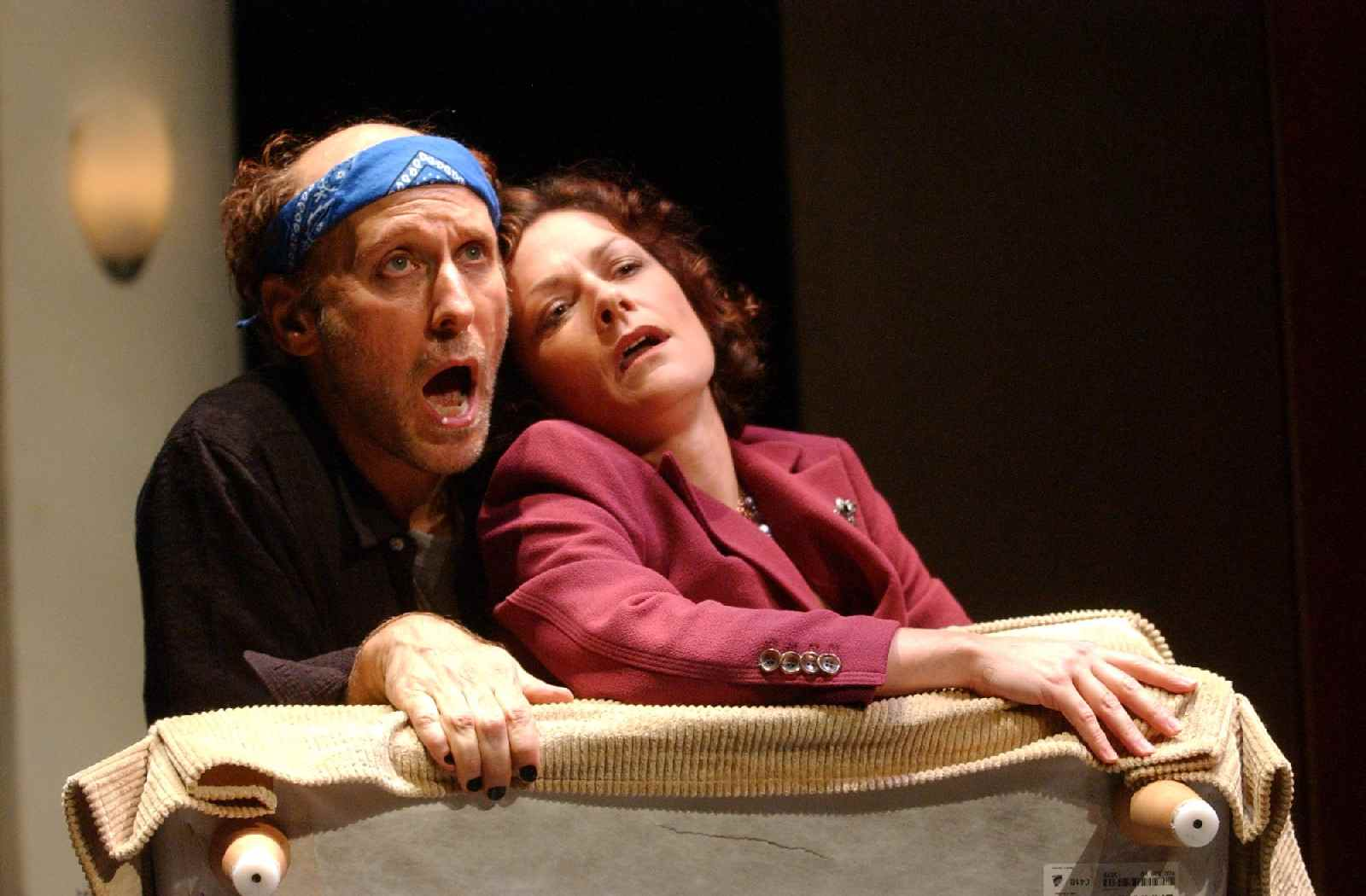 Howard Shalwitz and Jennifer Mendenhall in Ian Cohen's  Lenny & Lou,  directed by Tom Prewitt, 2004. Thanks to Gwydion Suilebhan and Lexi Dever at Woolly for digging up the photo.