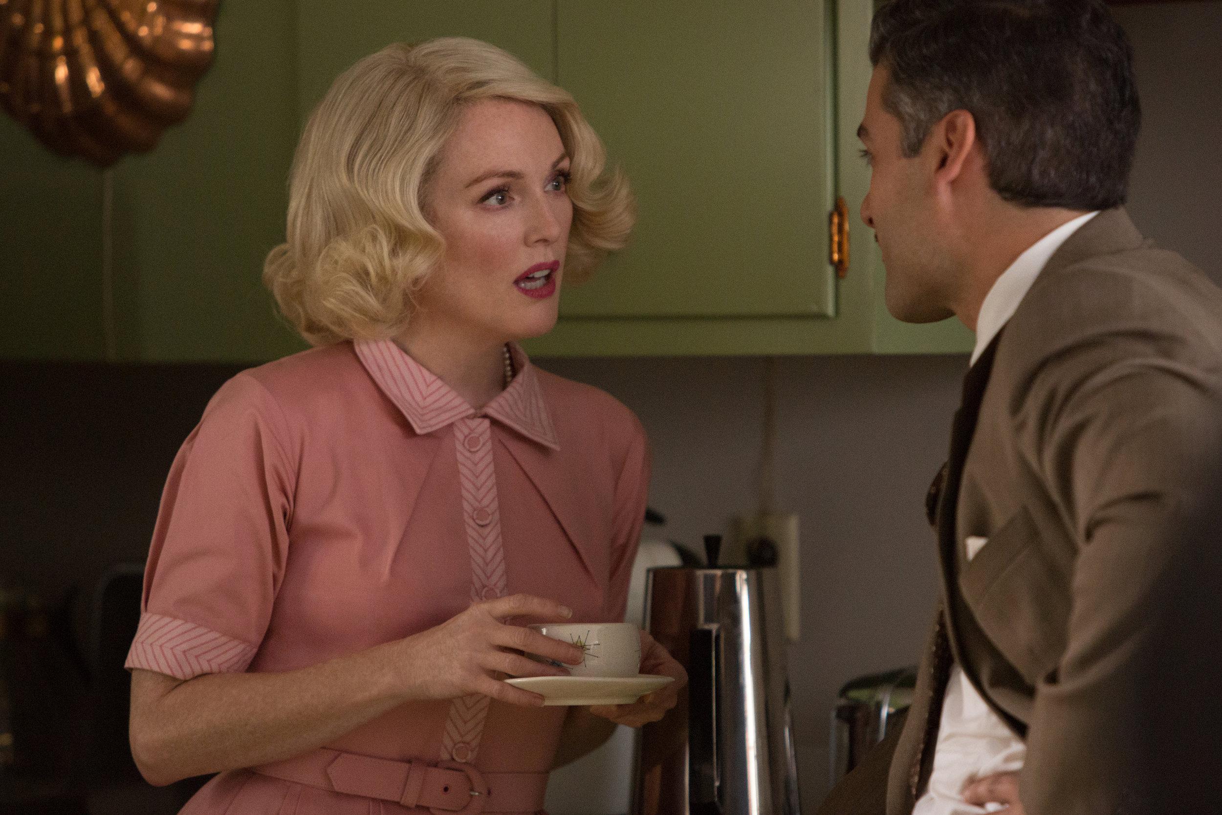 Julianne Moore and Oscar Isaac exchange unpleasantries. (Paramount)