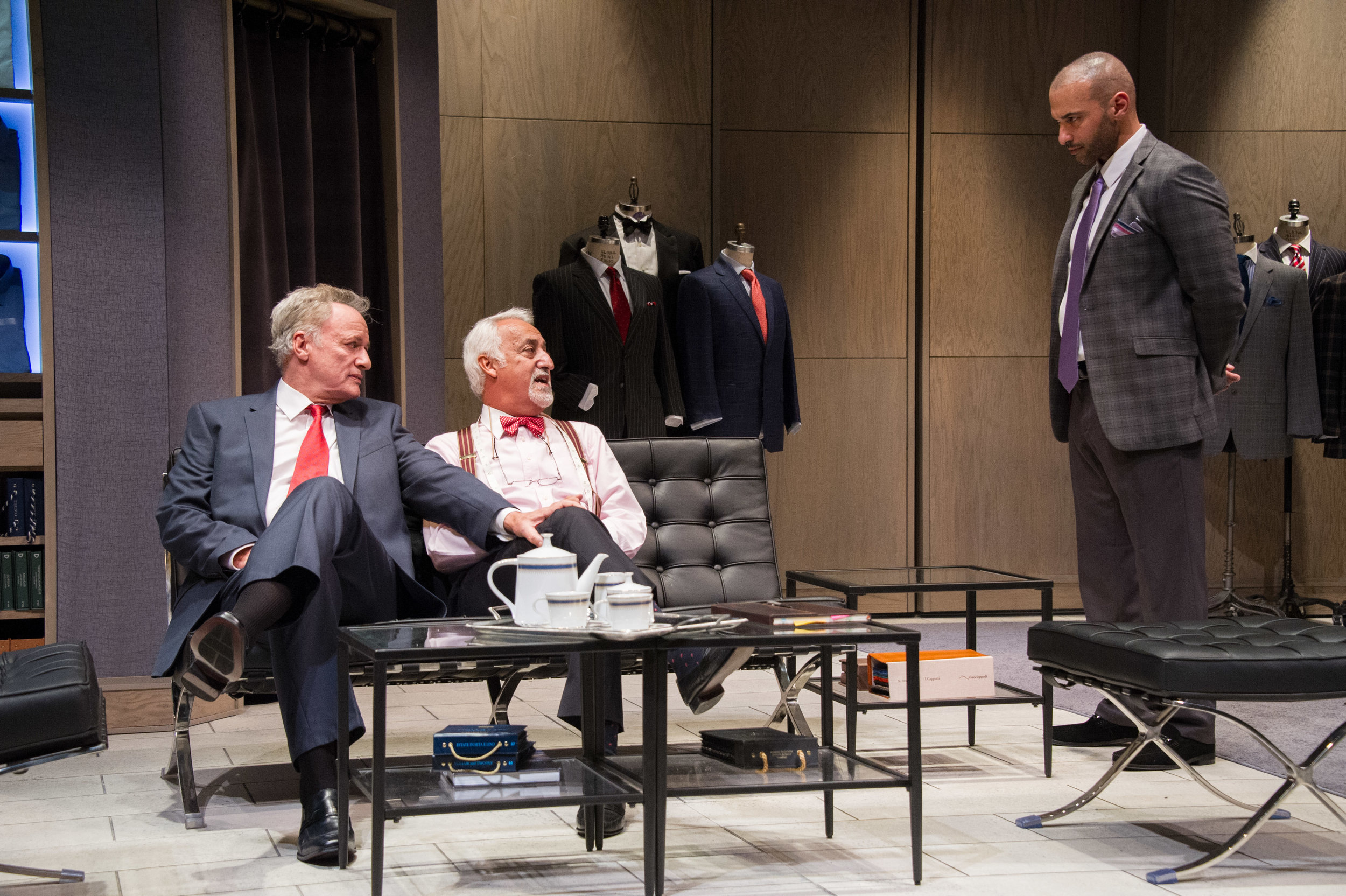 John de Lancie, Brian George, and Haaz Sleiman (Mosaic Theatre)