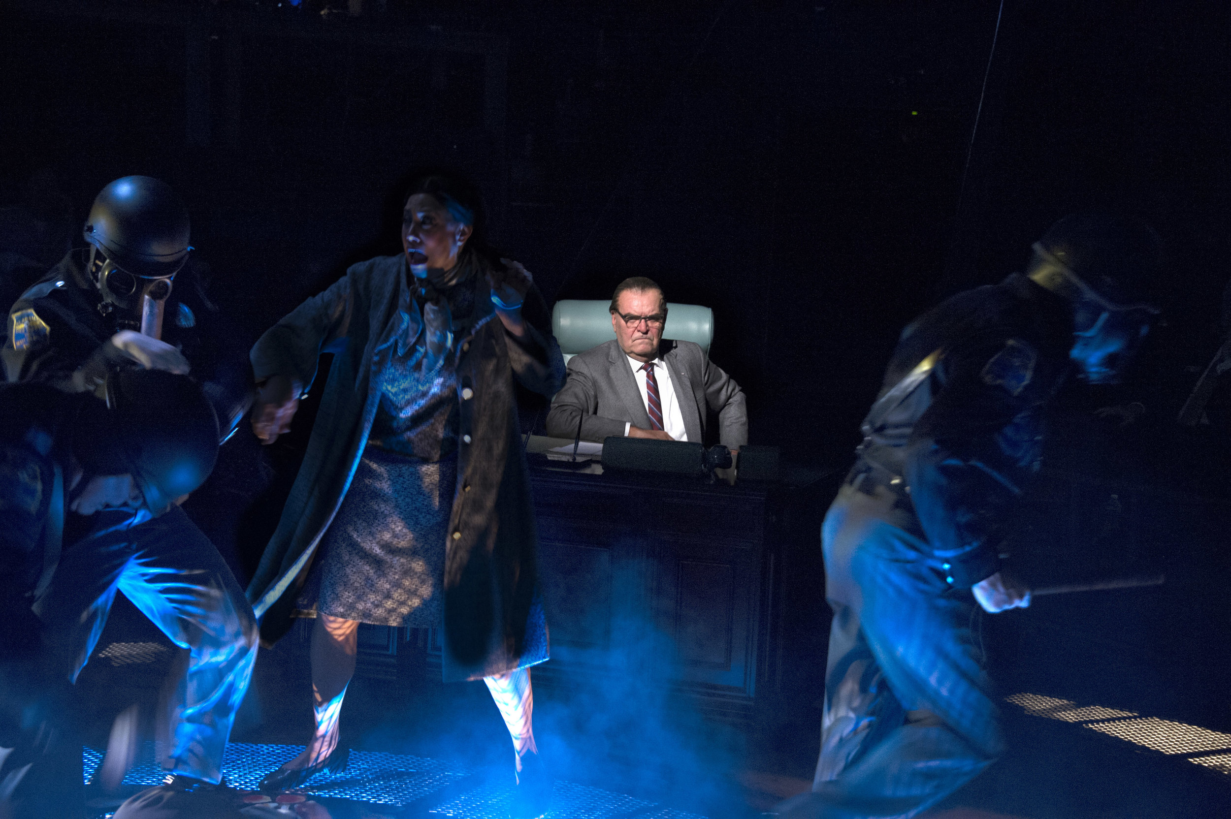 All Occasions Do Inform Against him: Jack Willis as LBJ, with Elliott Bales, Brook Berry, Alana D. Sharp and Andrew Weems (C. Stanley Photography)