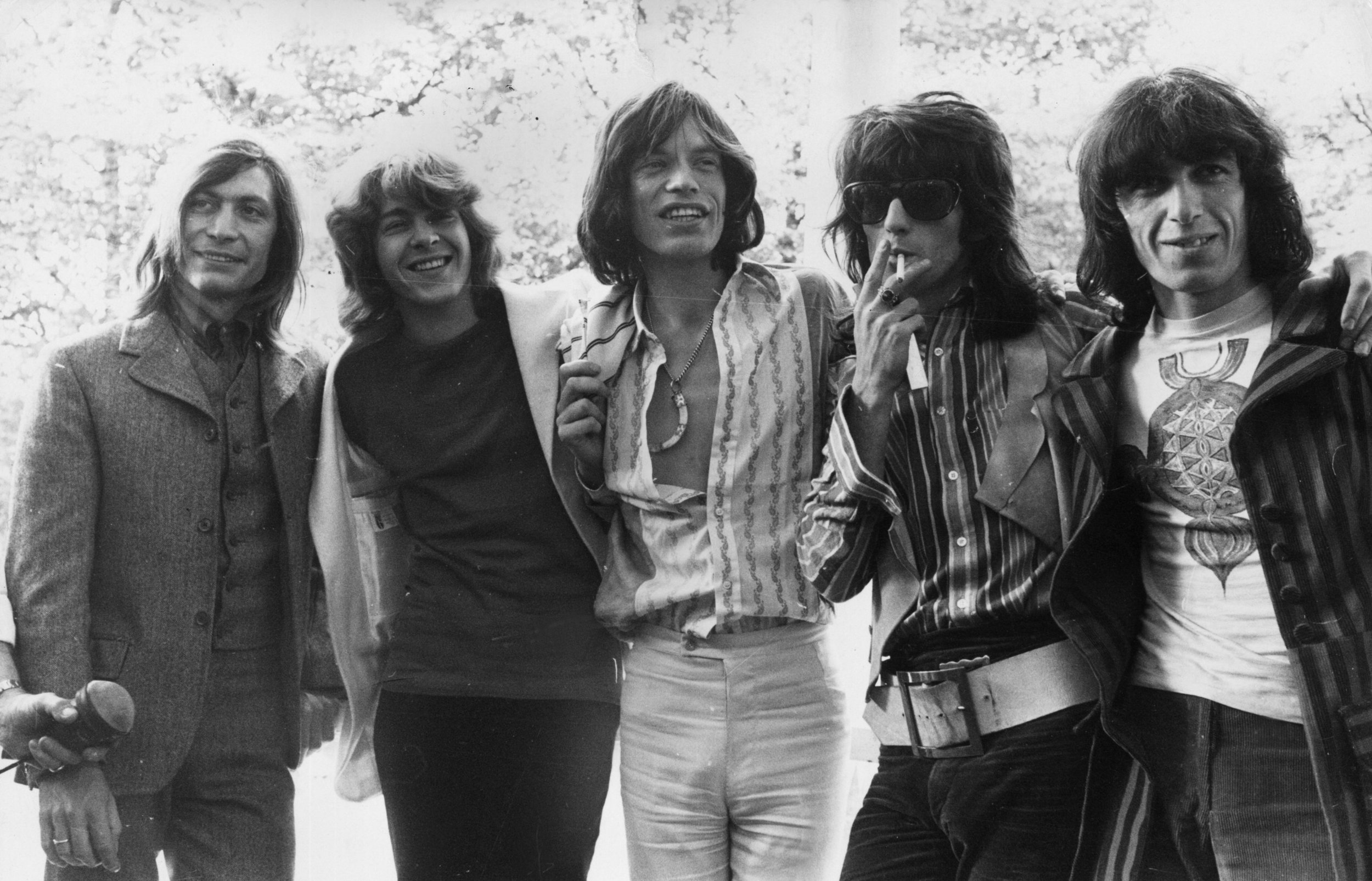 The Rolling Stones of 1969 are not the latter-day Stones. Mick Taylor (second from left_ and Bill Wyman (far right) both quit, for one thing, albeit decades apart.