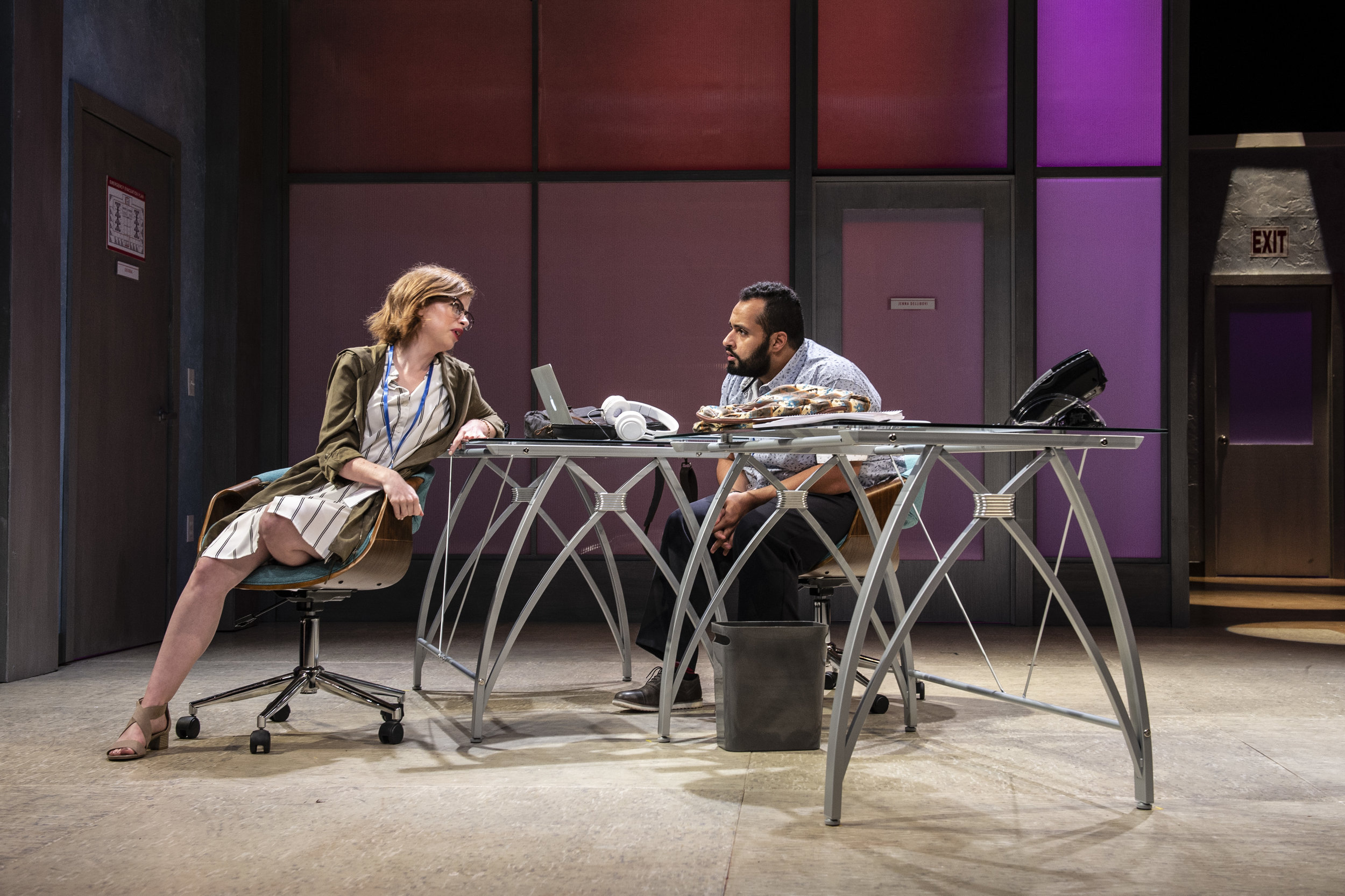 Megan Graves and Ahmad Kamal are two of the standout performers in  Gloria . (Teresa Castracane)