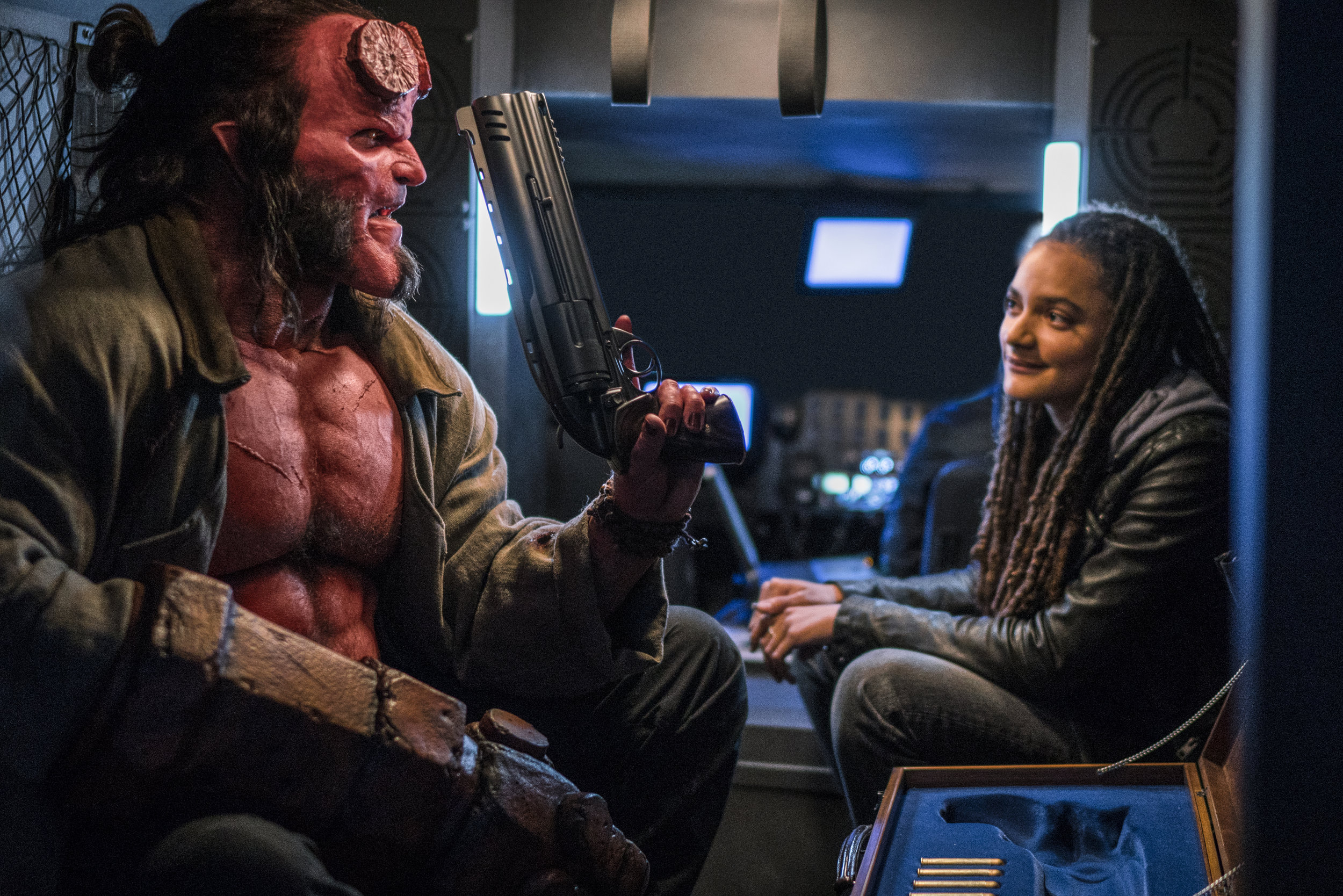 David Harbour is the new Ron Perlman in Hellboy, also starring Sasha Lane. (Mark Rogers)