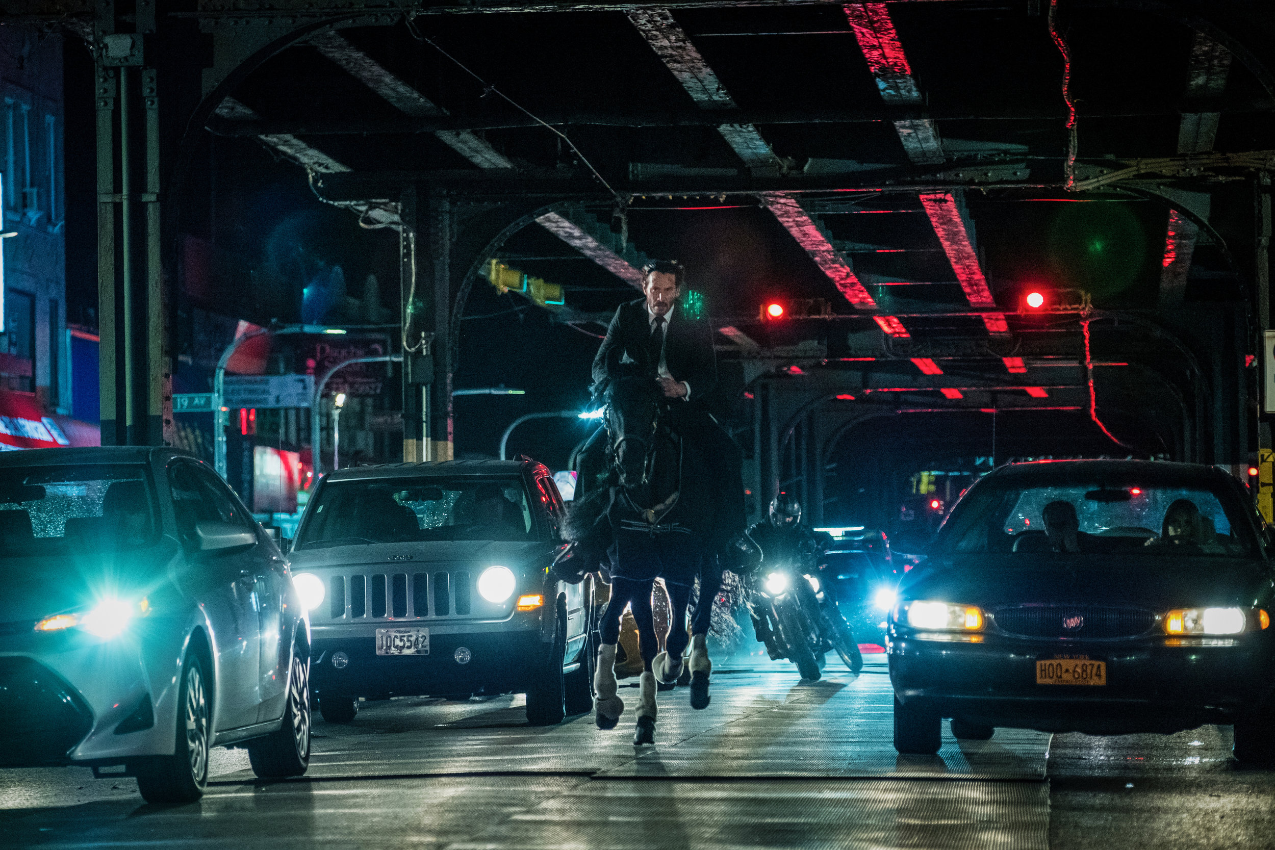 John Wick 3  boasts the best equine motocross sequence since  True Lies.