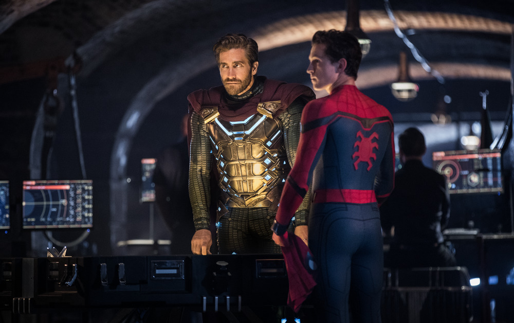 Secret identity, shmecret identity: Jake Gyllenhaal and Tom Holland in  Far From Home  (Sony/Columbia)