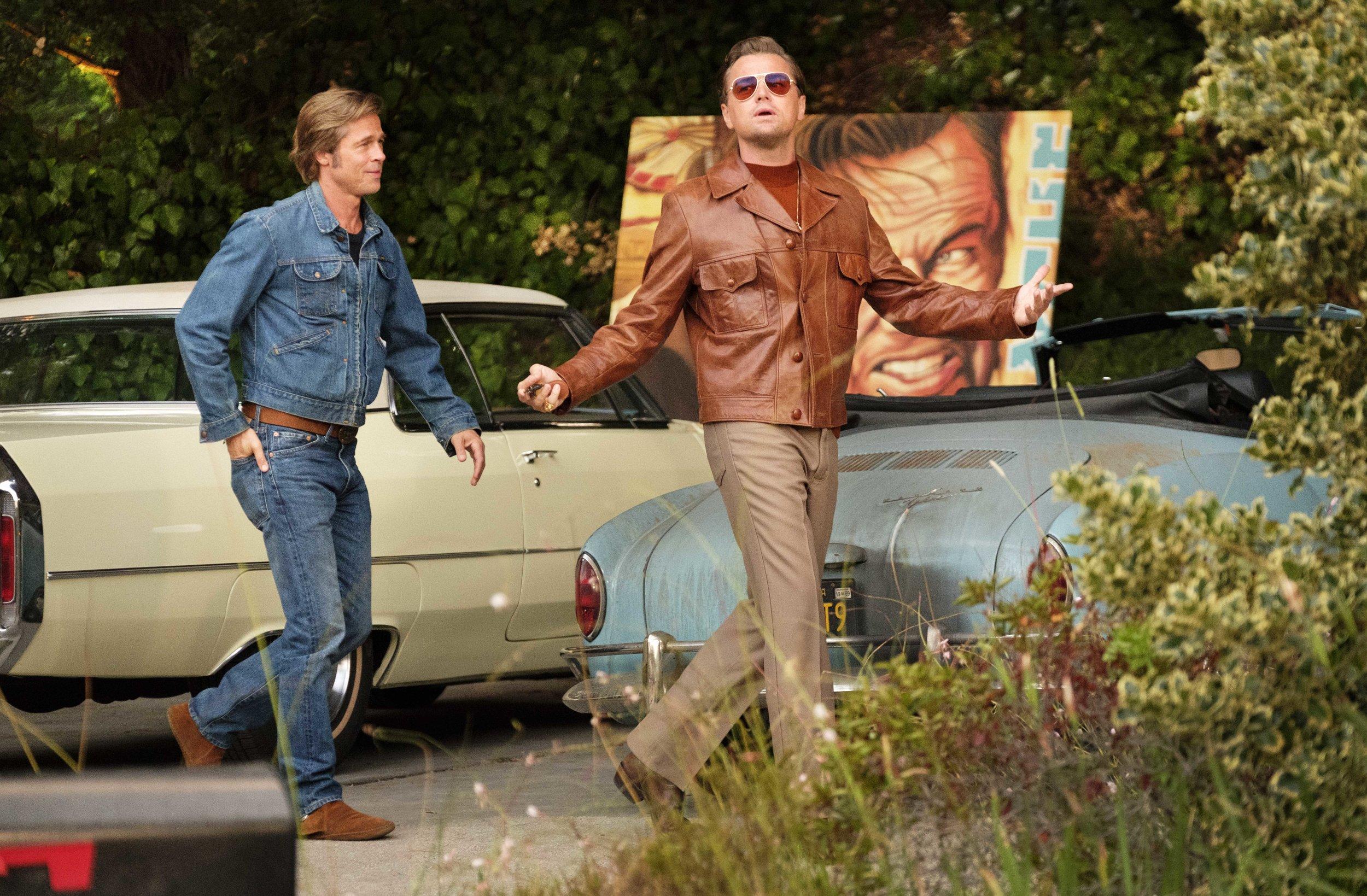 Brad and Leo, movie stars (Sony)
