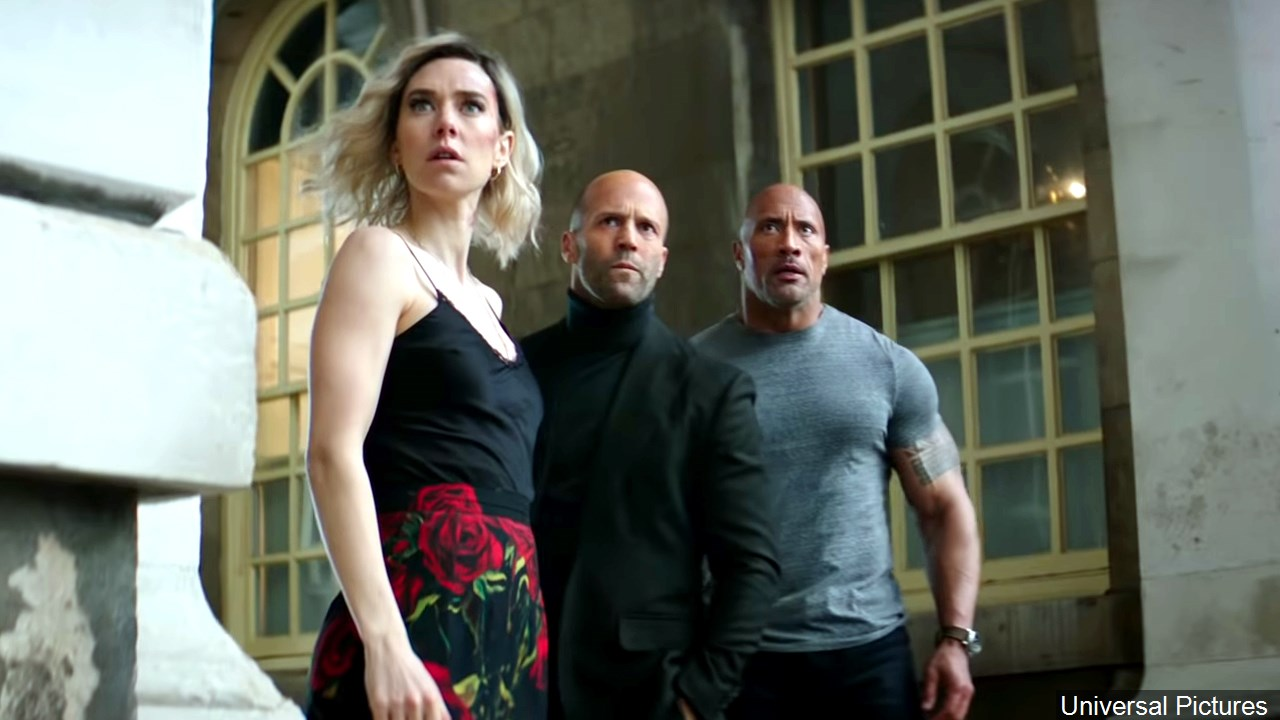 Kirby, Statham, and Johnson are Shaw, Shaw, and Hobbs.
