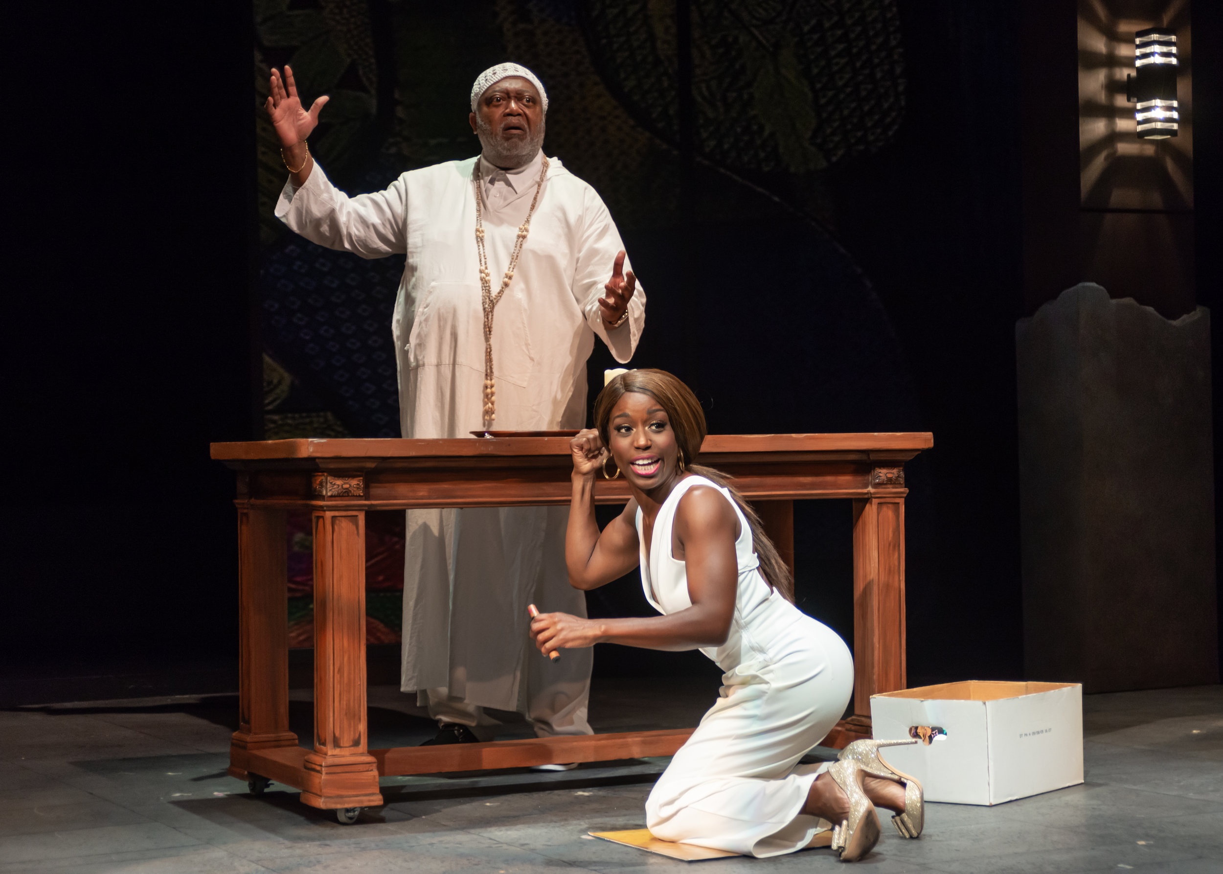 William T. Newman, Jr. and Felicia Curry in  Fabulation . (Christopher Banks)