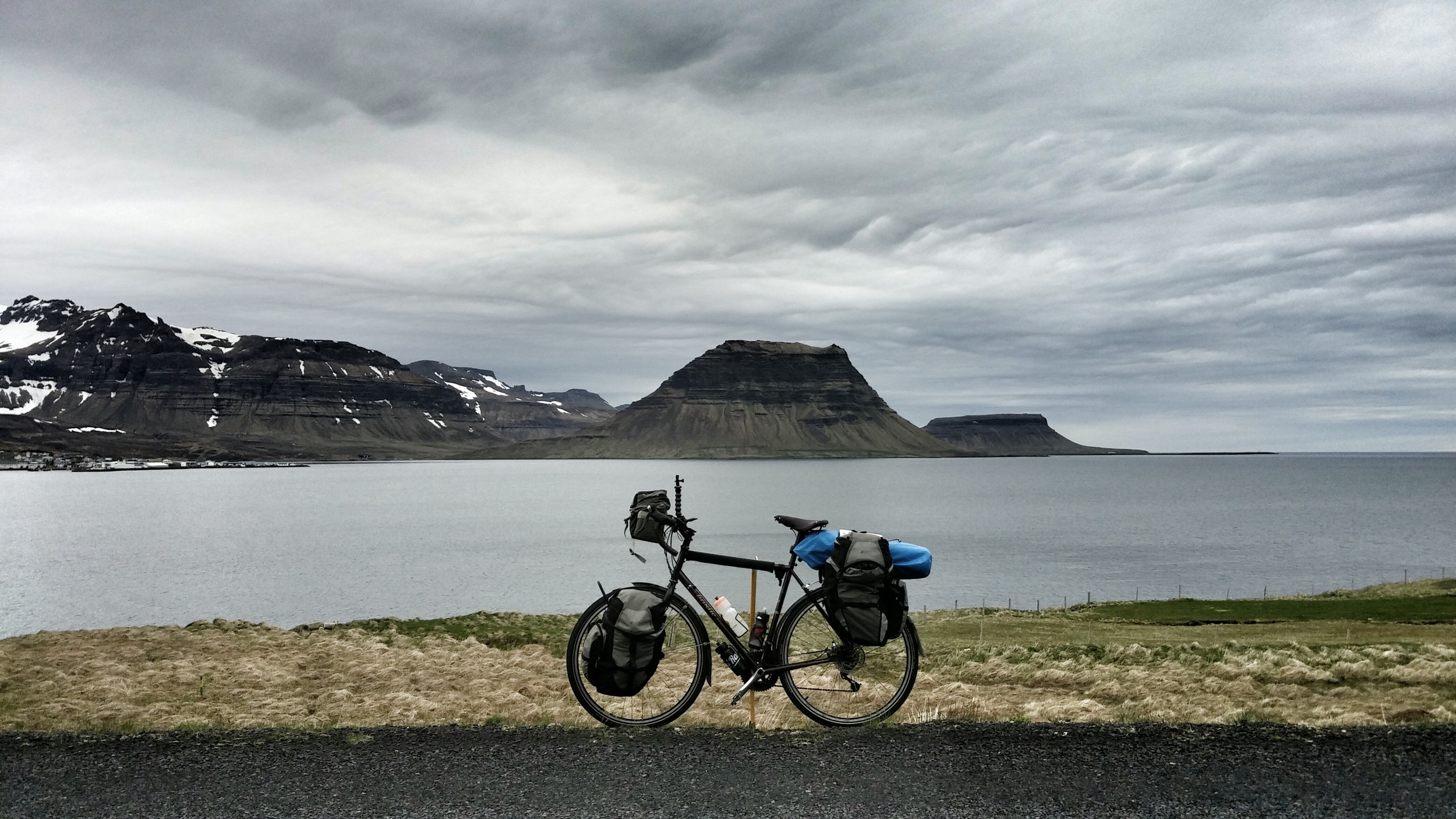 My bicycle and everything I needed to cycle around Iceland.
