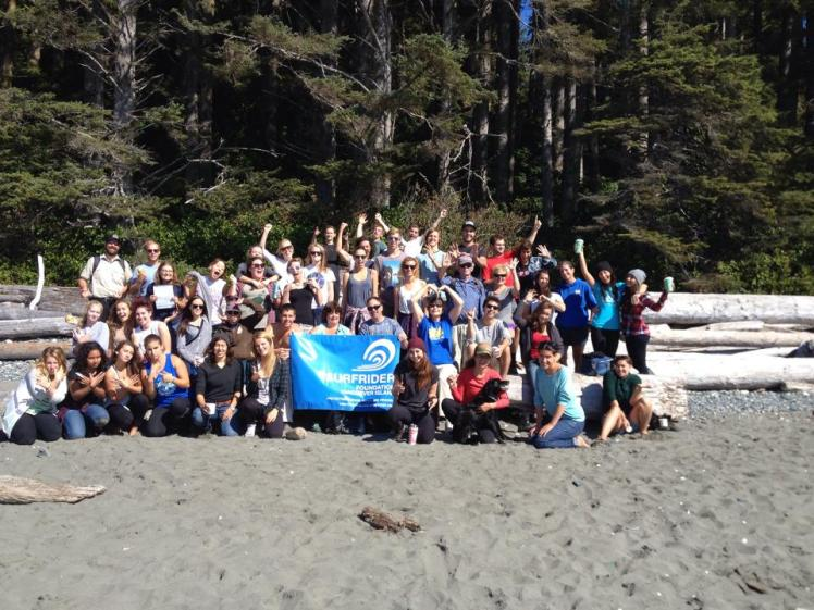 Cleaning up China Beach on Vancouver Island with Surfrider!